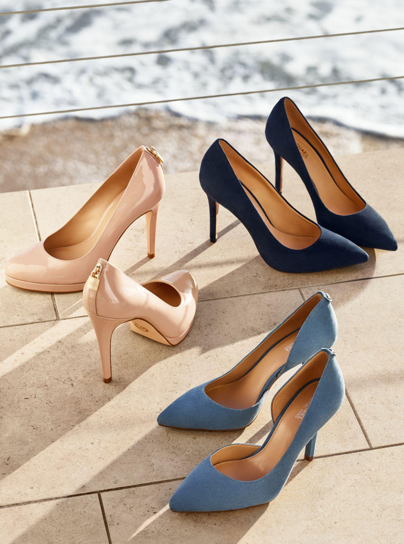 f73cfab5521 Lyst - Michael Kors Claire Suede Pump in Blue
