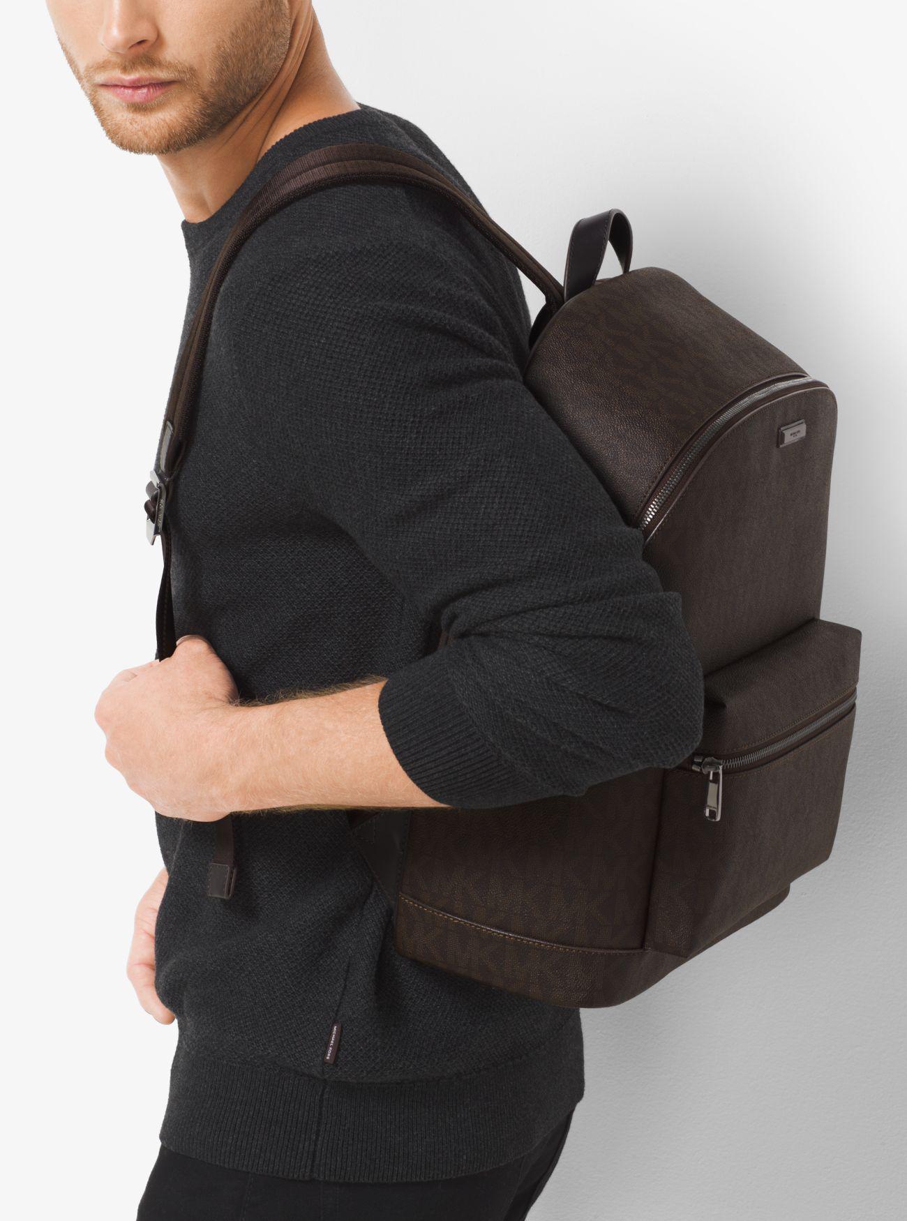 a6d4ad8703a887 Michael Kors Jet Set Logo Backpack in Brown for Men - Lyst