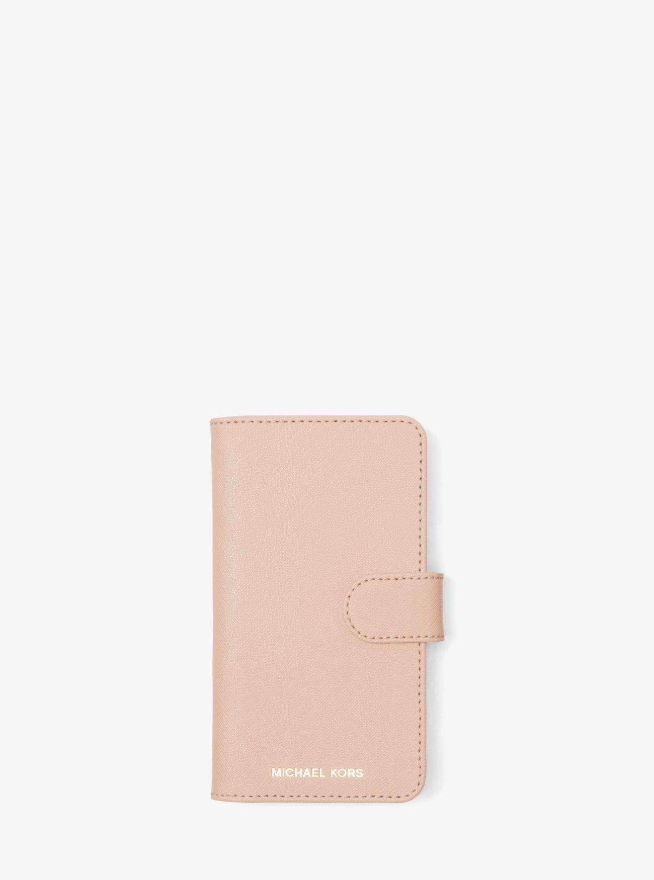 96e3340bcfdb MICHAEL Michael Kors. Women's Pink Saffiano Leather Folio Phone Case For  Iphone X