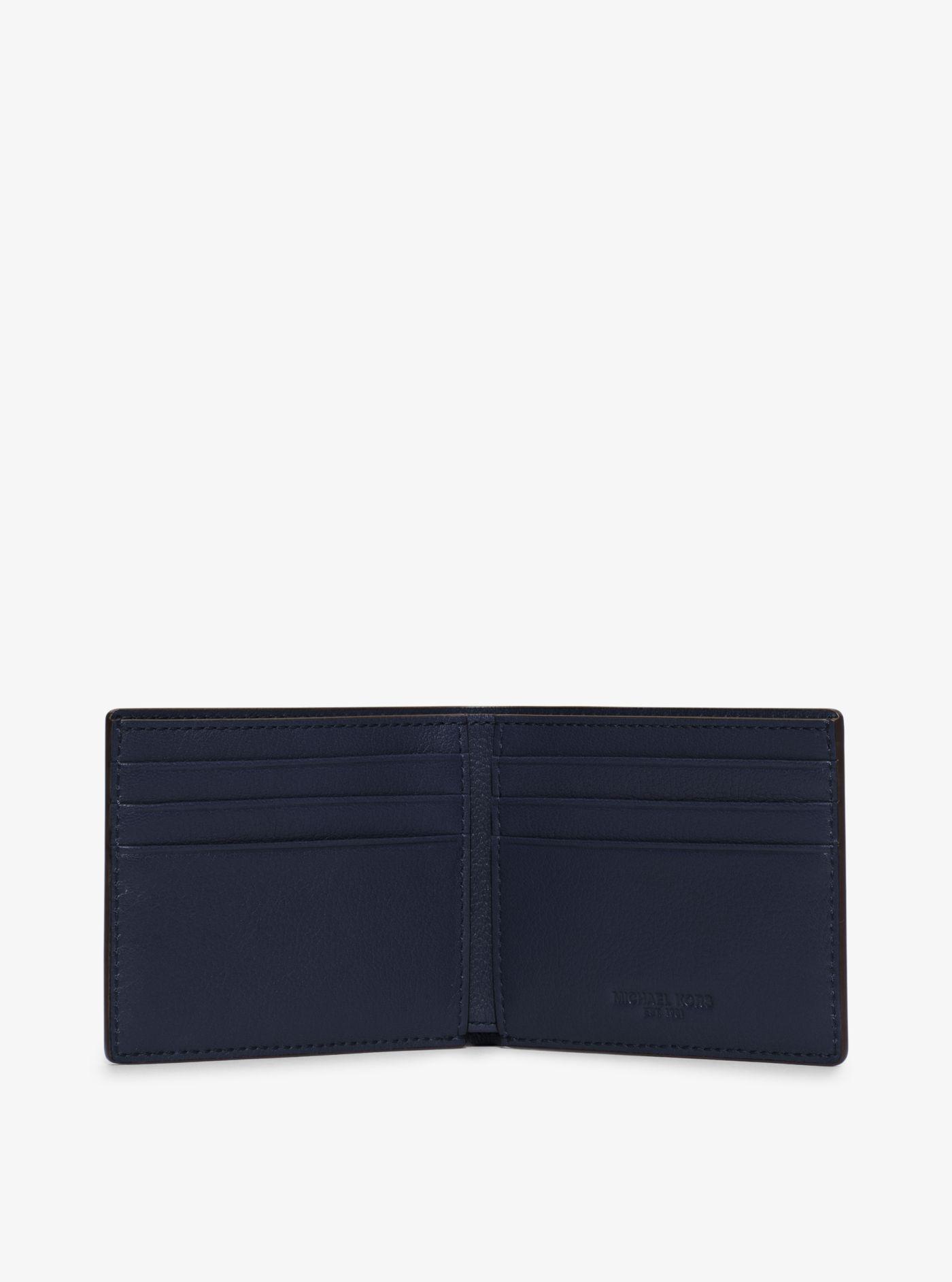 83b6b31b5616 Michael Kors Bryant Slim Leather Billfold Wallet in Black for Men - Lyst