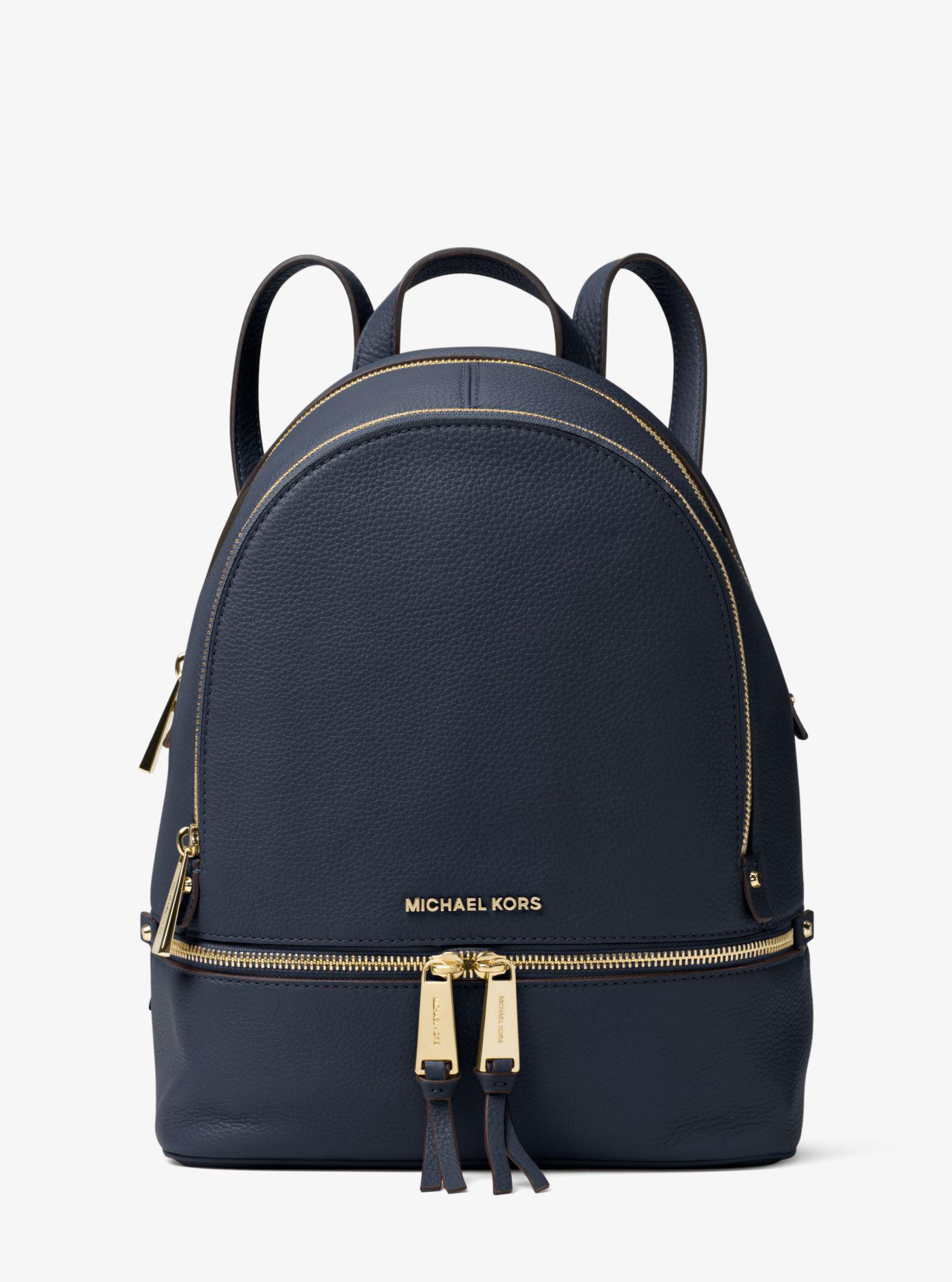 a6ba8f32a5ec1 Michael Kors - Blue Rhea Medium Leather Backpack - Lyst. View fullscreen