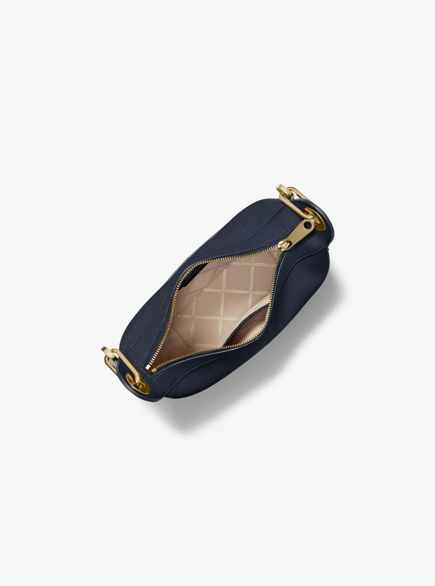 30cbd3656c68 Lyst - Michael Kors Barlow Medium Pebbled Leather Messenger Bag in Blue