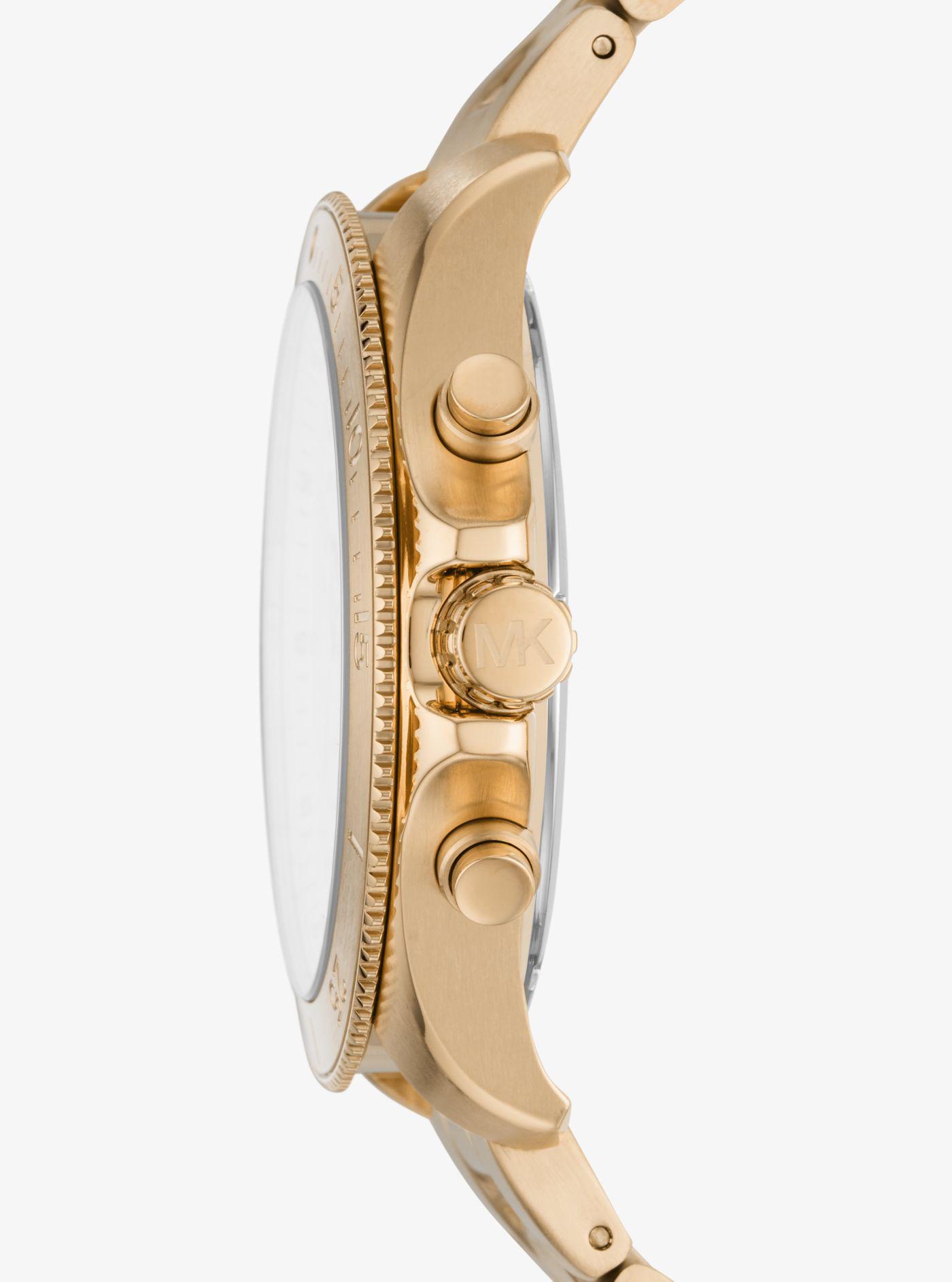ab3e8bbee00e Michael Kors - Metallic Theroux Gold-tone Watch for Men - Lyst. View  fullscreen