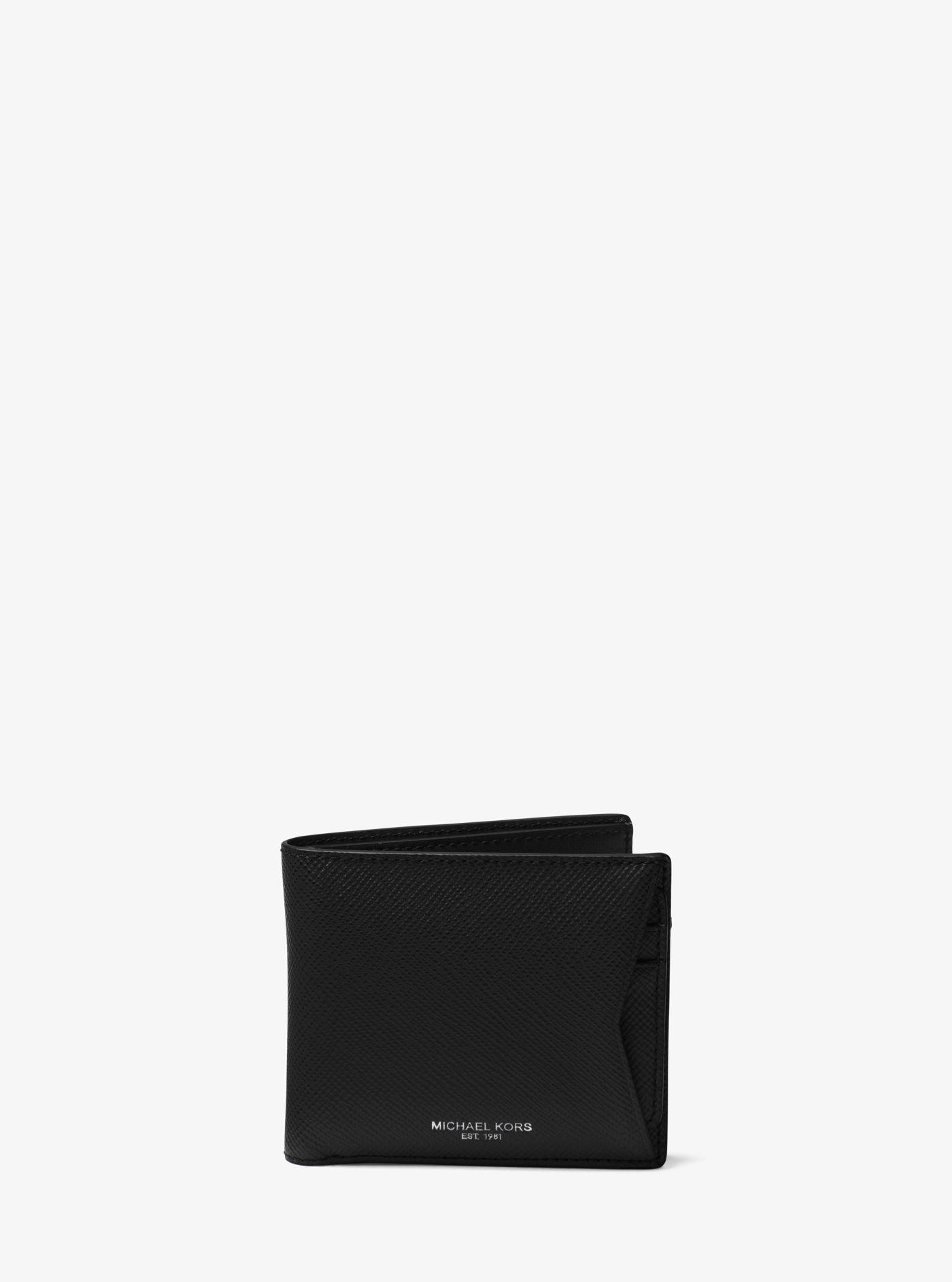 9f011943fe1eab Lyst - Michael Kors Harrison Leather Billfold Wallet in Black for Men