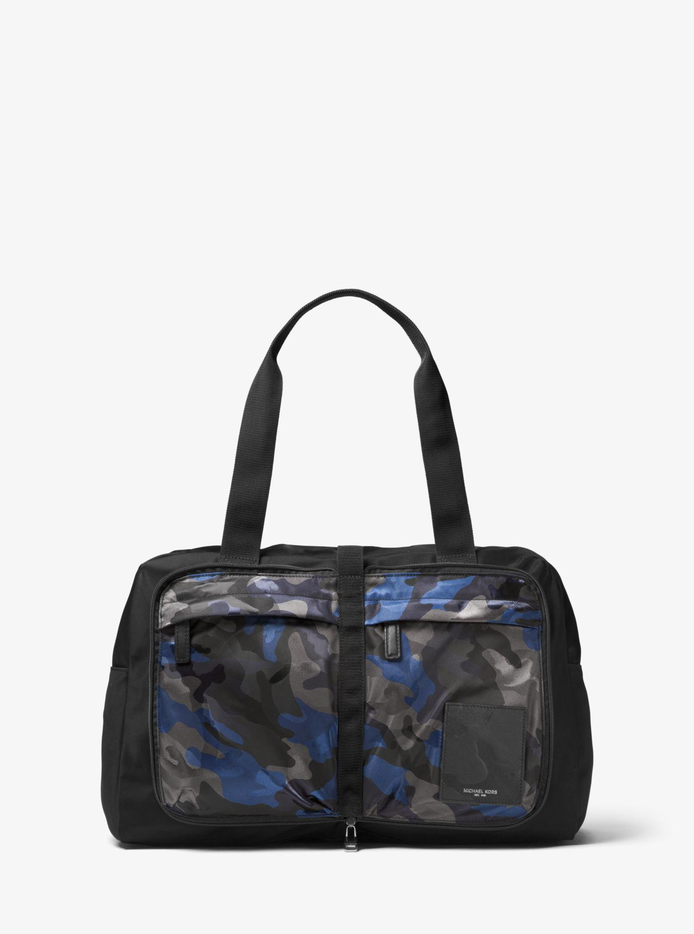 8f7ac21a34a4 Michael Kors Kent Camouflage Nylon Duffel in Blue for Men - Lyst