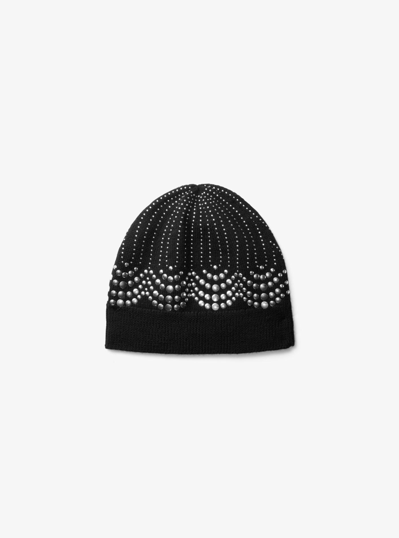 868589838f5 Lyst - Michael Kors Embellished Wool Beanie in Black