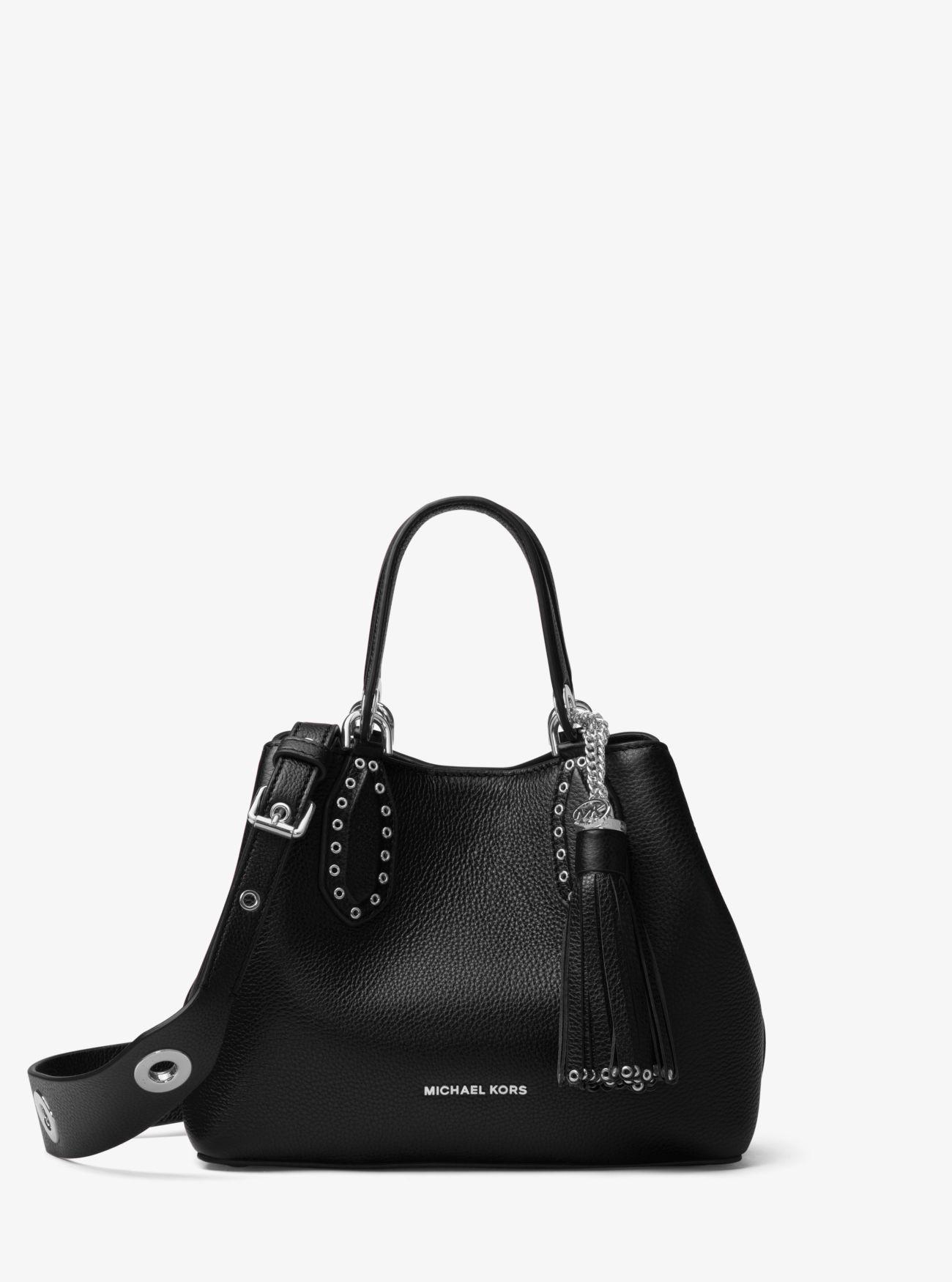 77423798af95 Michael Kors - Black Brooklyn Small Leather Satchel - Lyst. View fullscreen
