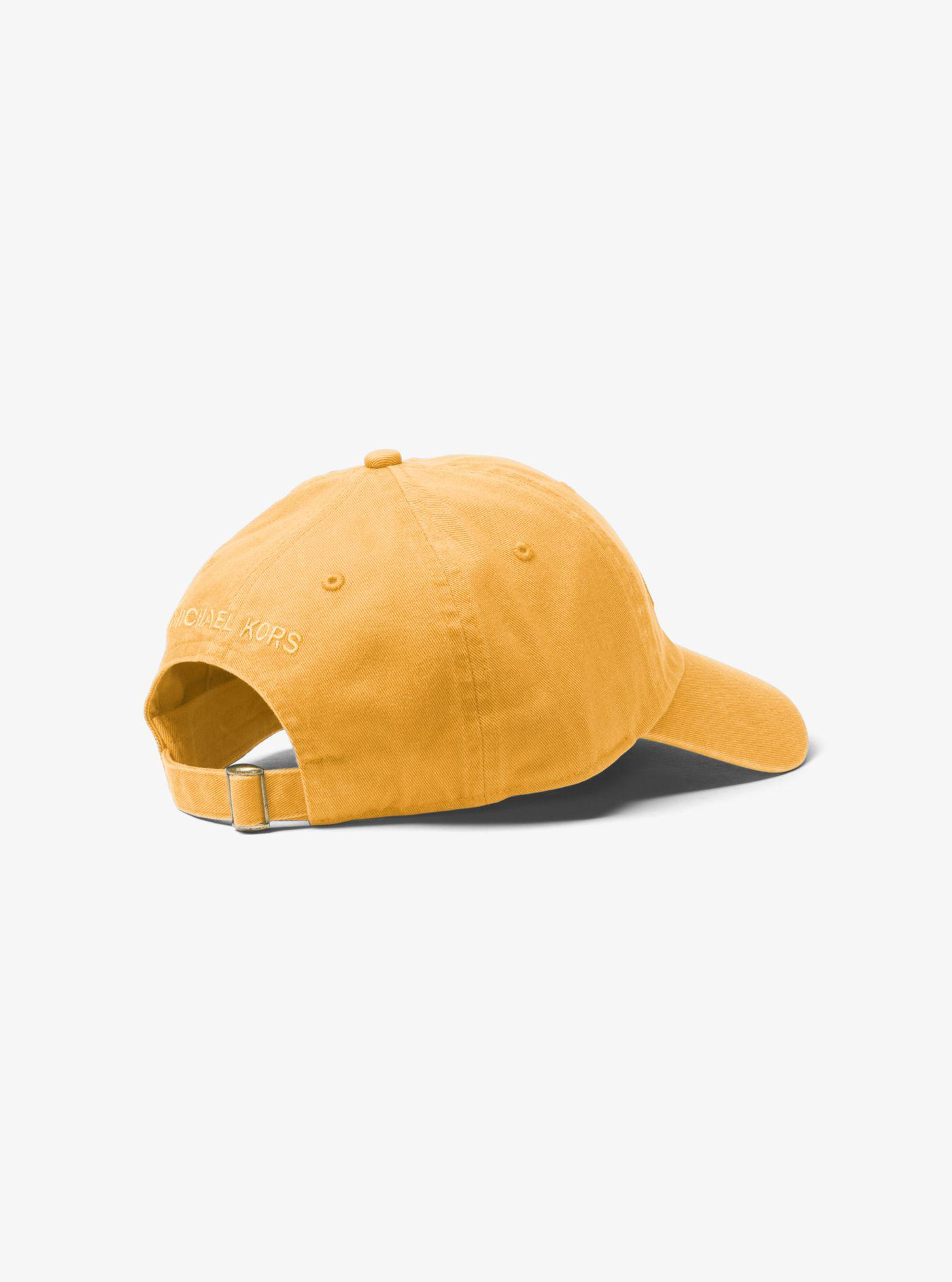 03d2bbd22af Michael Kors - Yellow Logo Cotton Baseball Hat for Men - Lyst. View  fullscreen