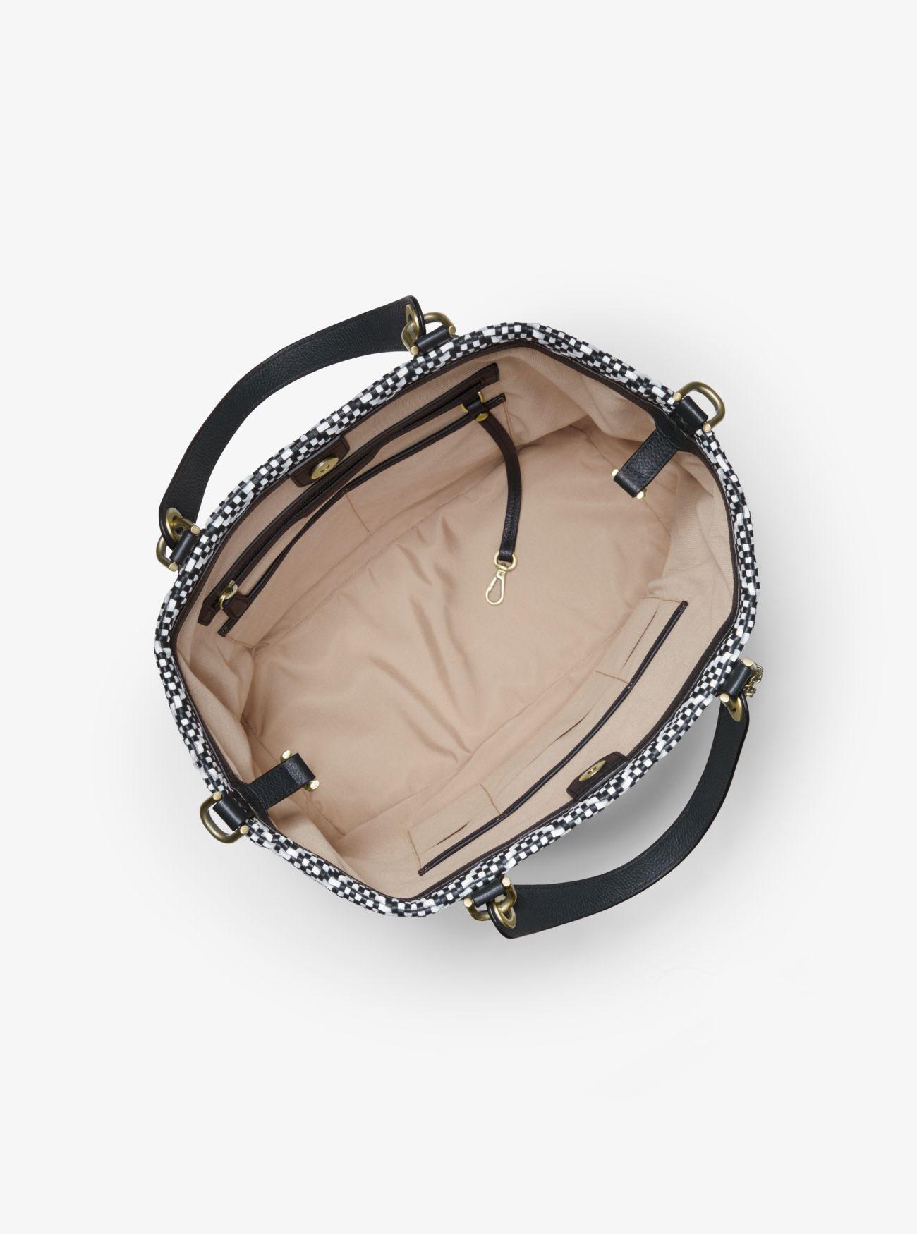 da9c52afbca2 Michael Kors - Multicolor Brooklyn Large Woven Leather Satchel - Lyst. View  fullscreen
