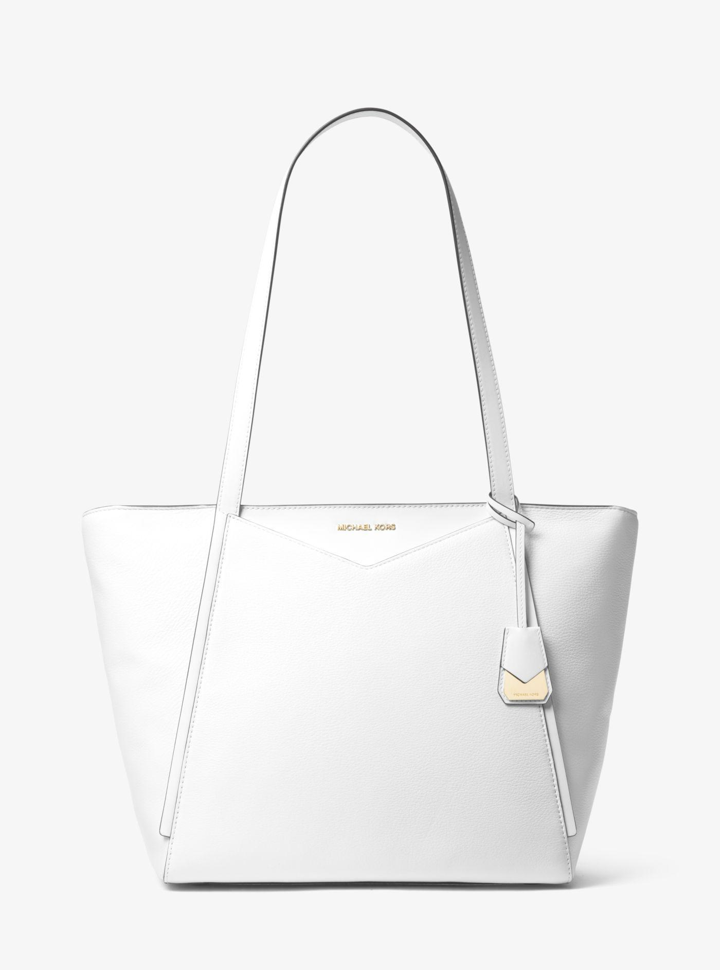 27db033c520f Michael Kors Whitney Large Leather Tote in White - Lyst
