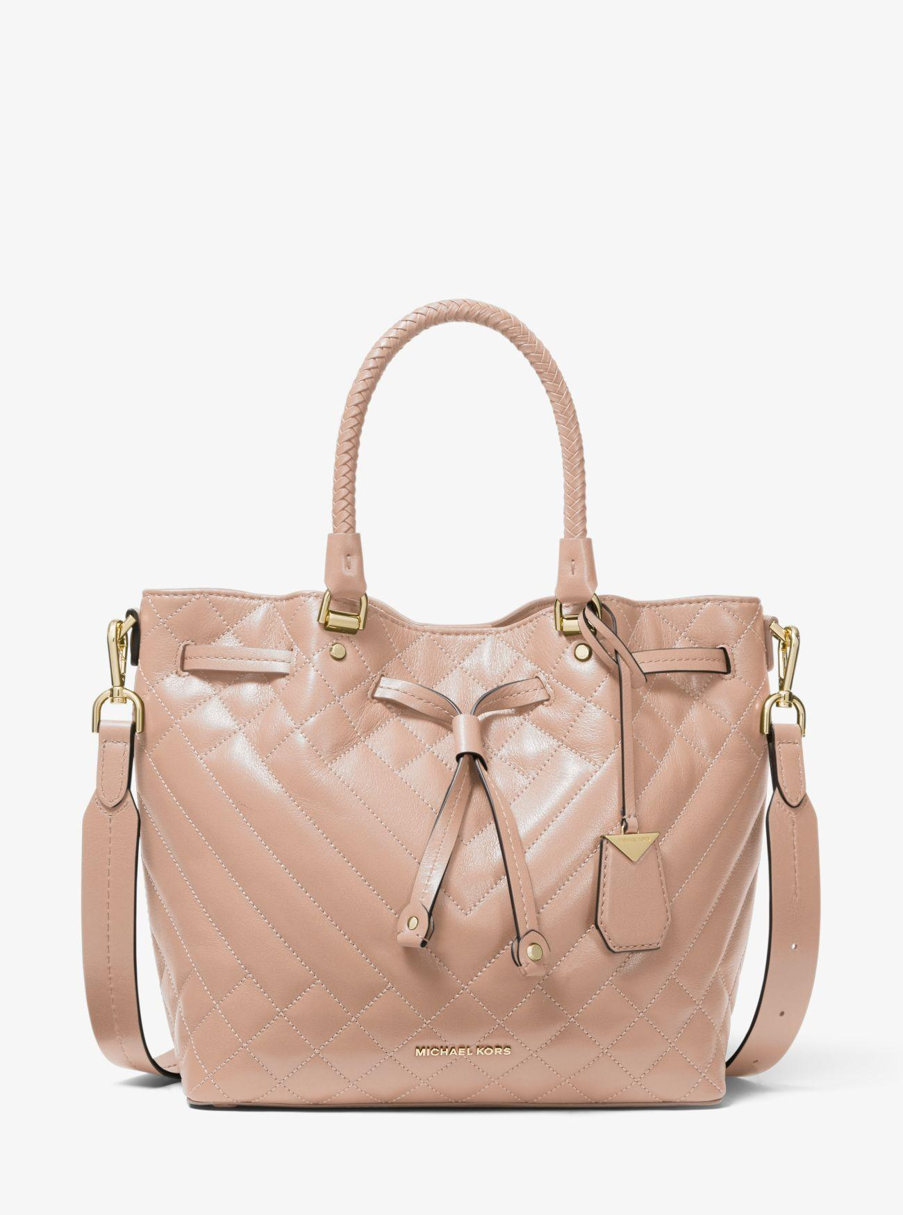 f08bd68be49c MICHAEL Michael Kors - Pink Blakely Medium Quilted Leather Bucket Bag -  Lyst. View fullscreen