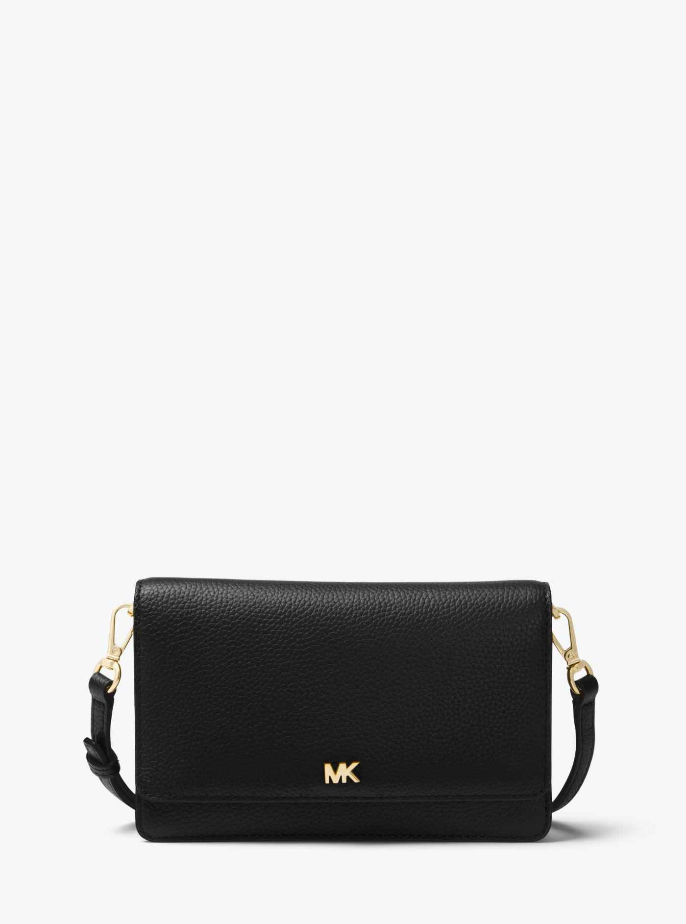 6289c6cae6518d ... discount code for michael kors. womens black whipstitched leather  convertible crossbody 2c535 0d290 ...