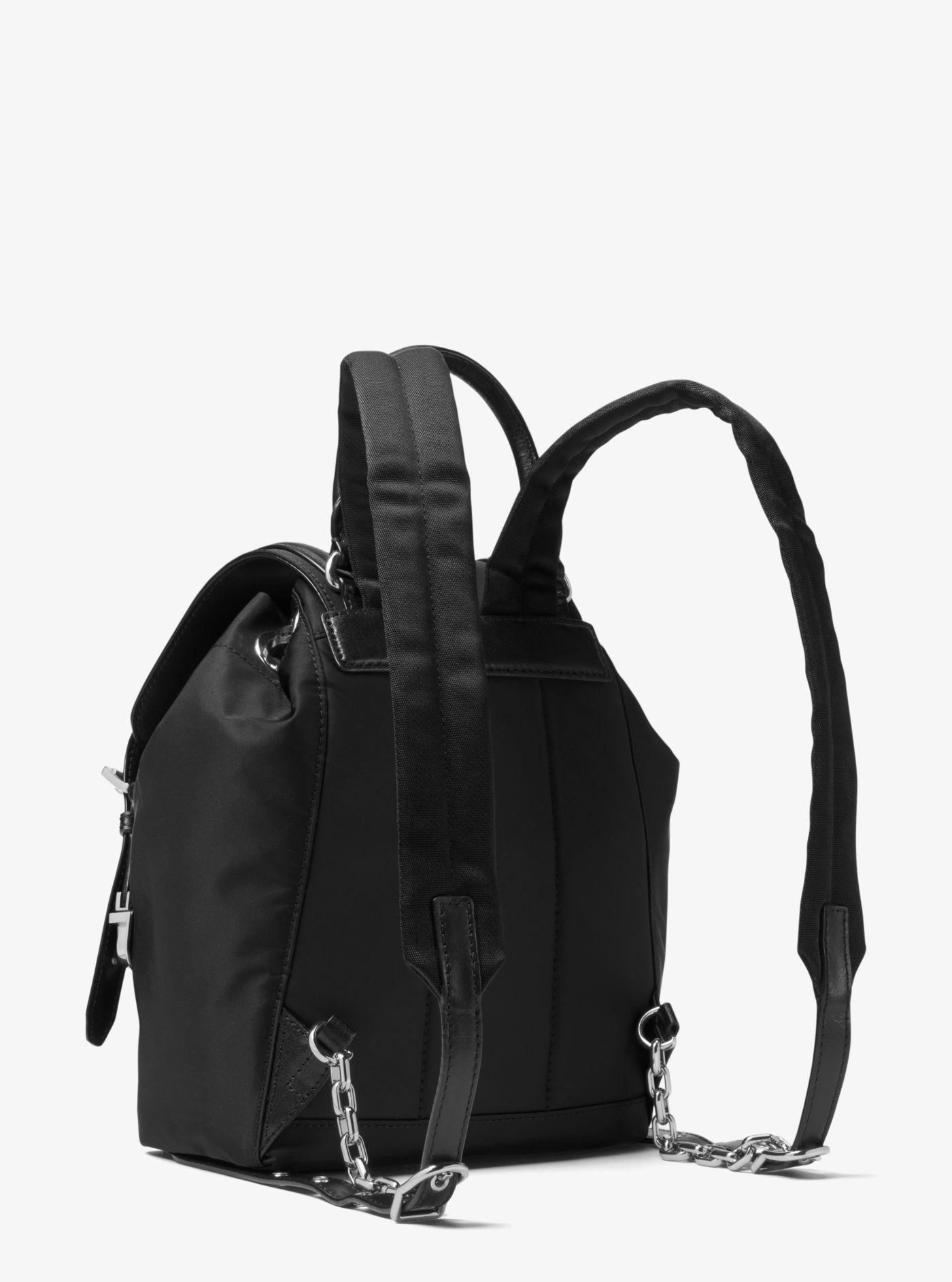 1832257336d0 Michael Kors - Black Beacon Small Nylon Backpack - Lyst. View fullscreen