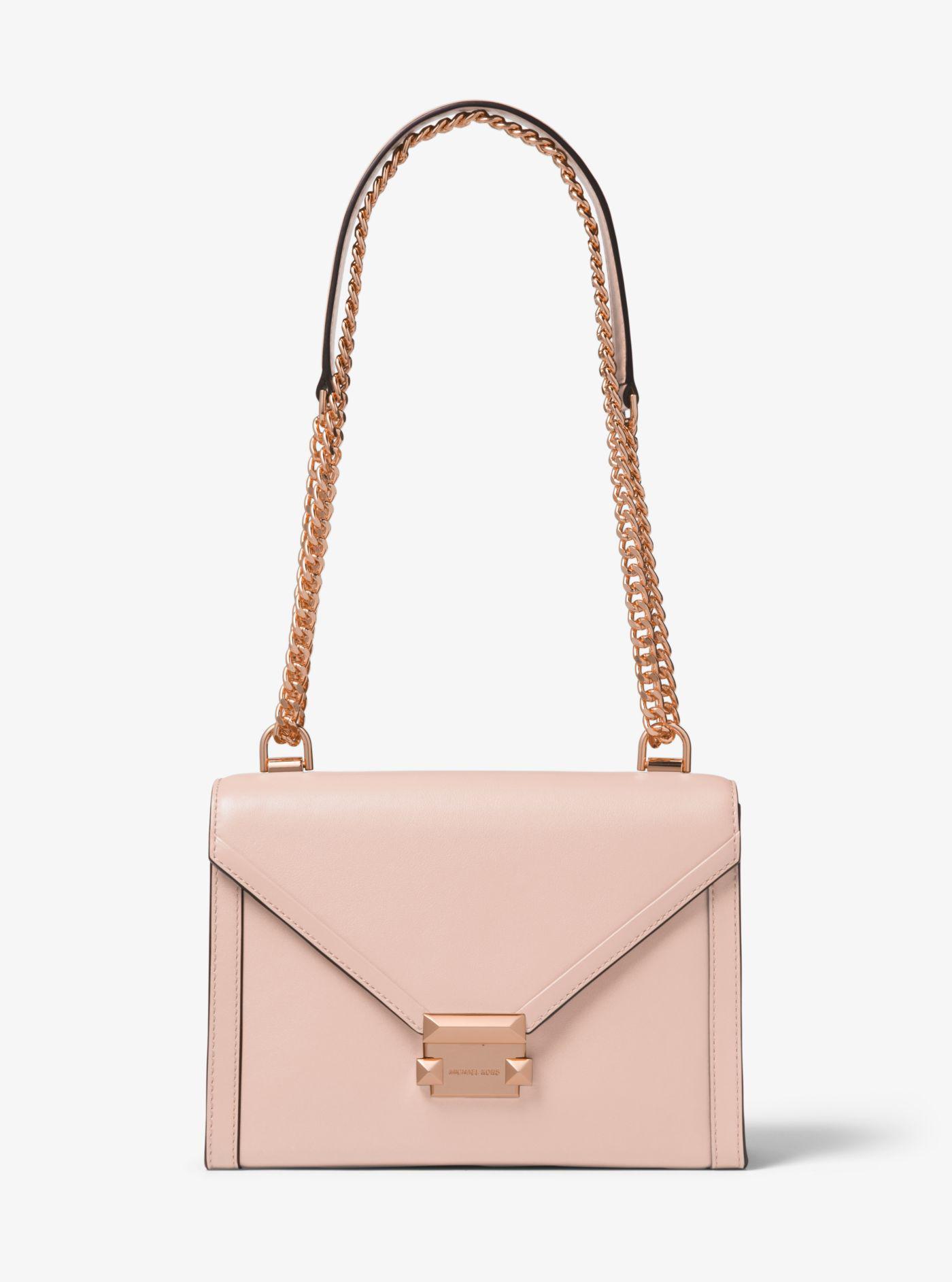 1c7e191097582 Michael Kors. Women s Pink Whitney Large Leather Convertible Shoulder Bag