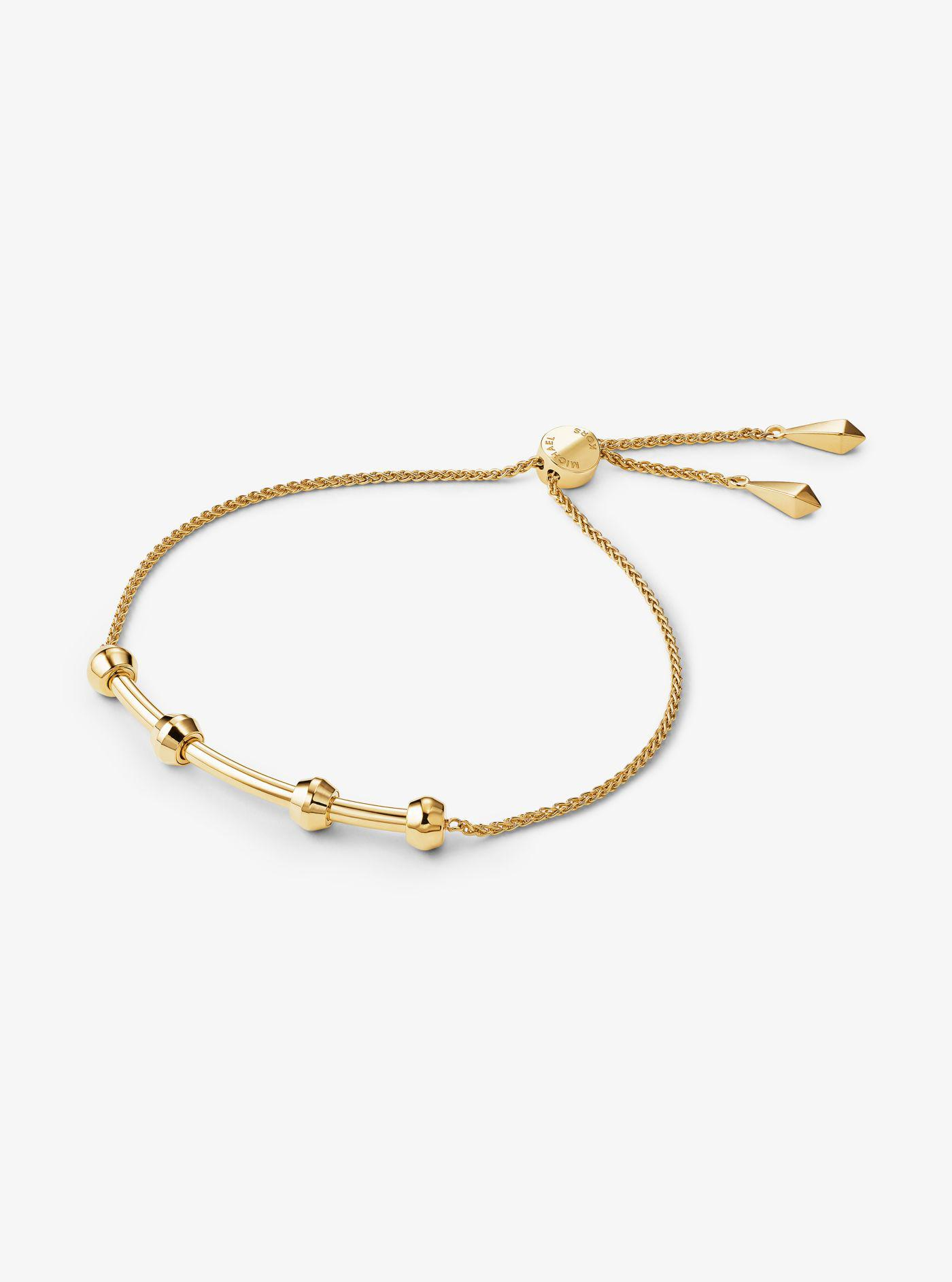 64b2a8854792 Lyst - Michael Kors 14k Rose Gold-plated Sterling Silver Or Solid ...