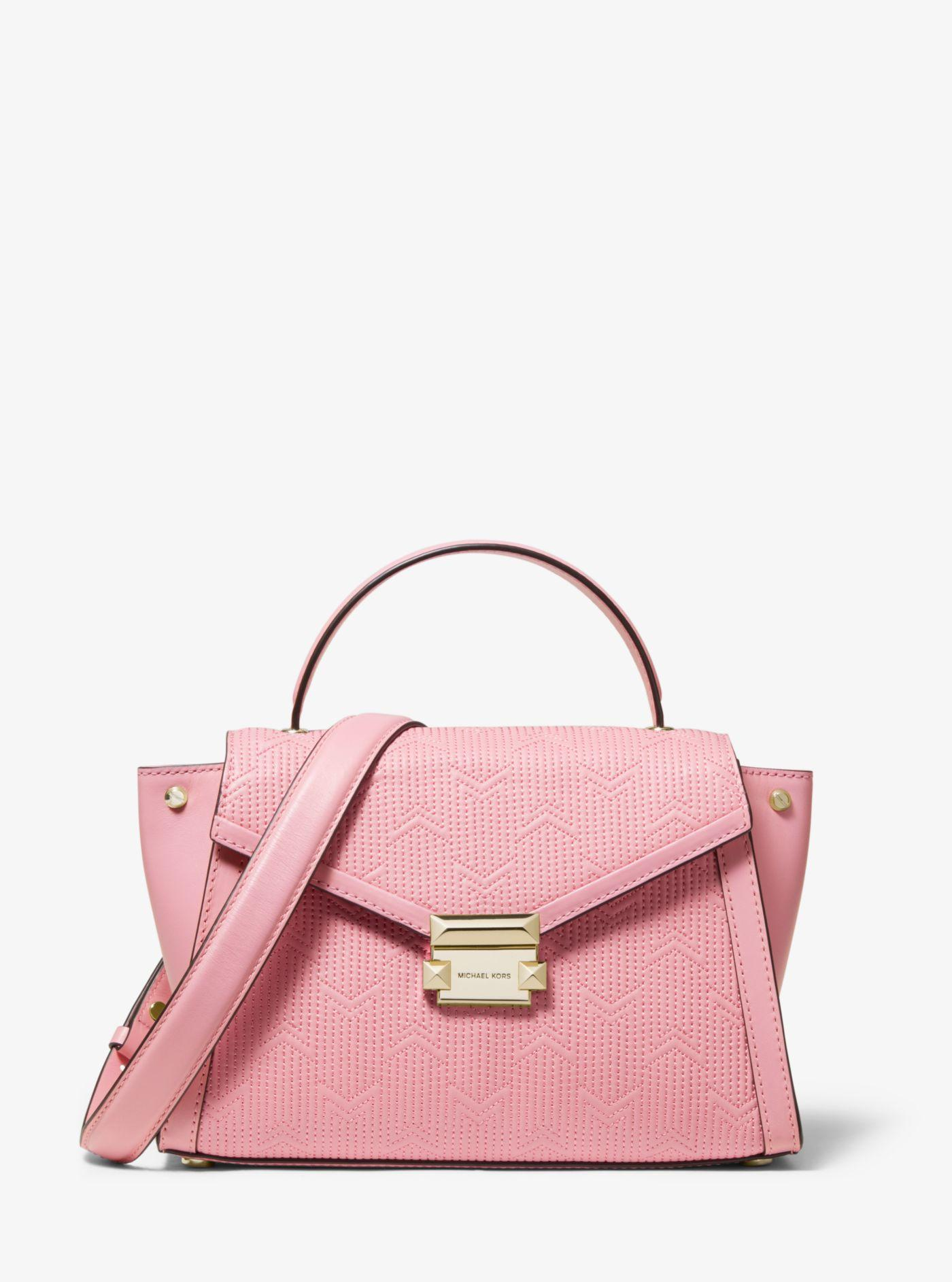 ba88add76dba Michael Kors - Pink Whitney Medium Deco Quilted Leather Satchel - Lyst.  View fullscreen