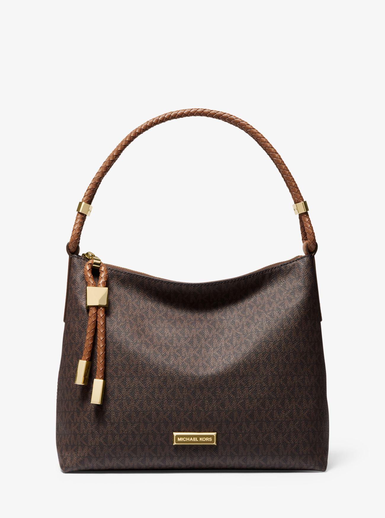 b50dedda3988 Lyst - MICHAEL Michael Kors Lexington Medium Logo Shoulder Bag in Brown