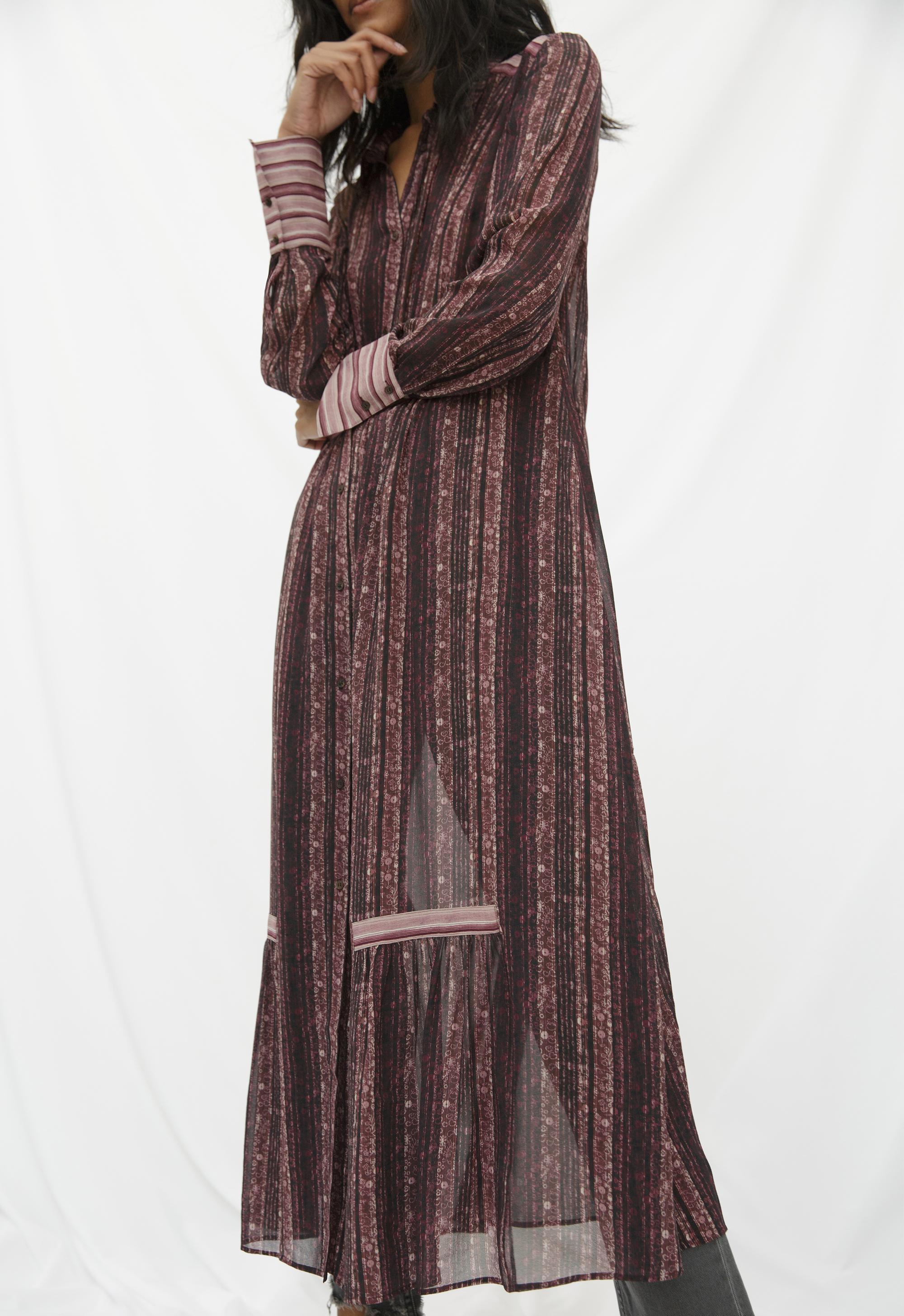Brigitte Printed Silk-Georgette Dress Mih Jeans gVF6y