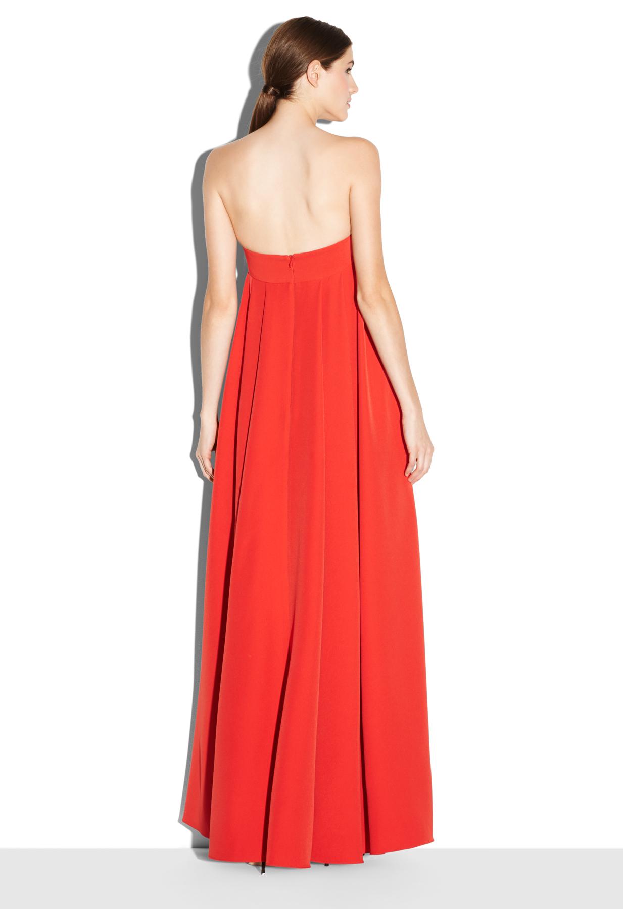 Lyst Milly Italian Cady Vanessa Dress In Orange