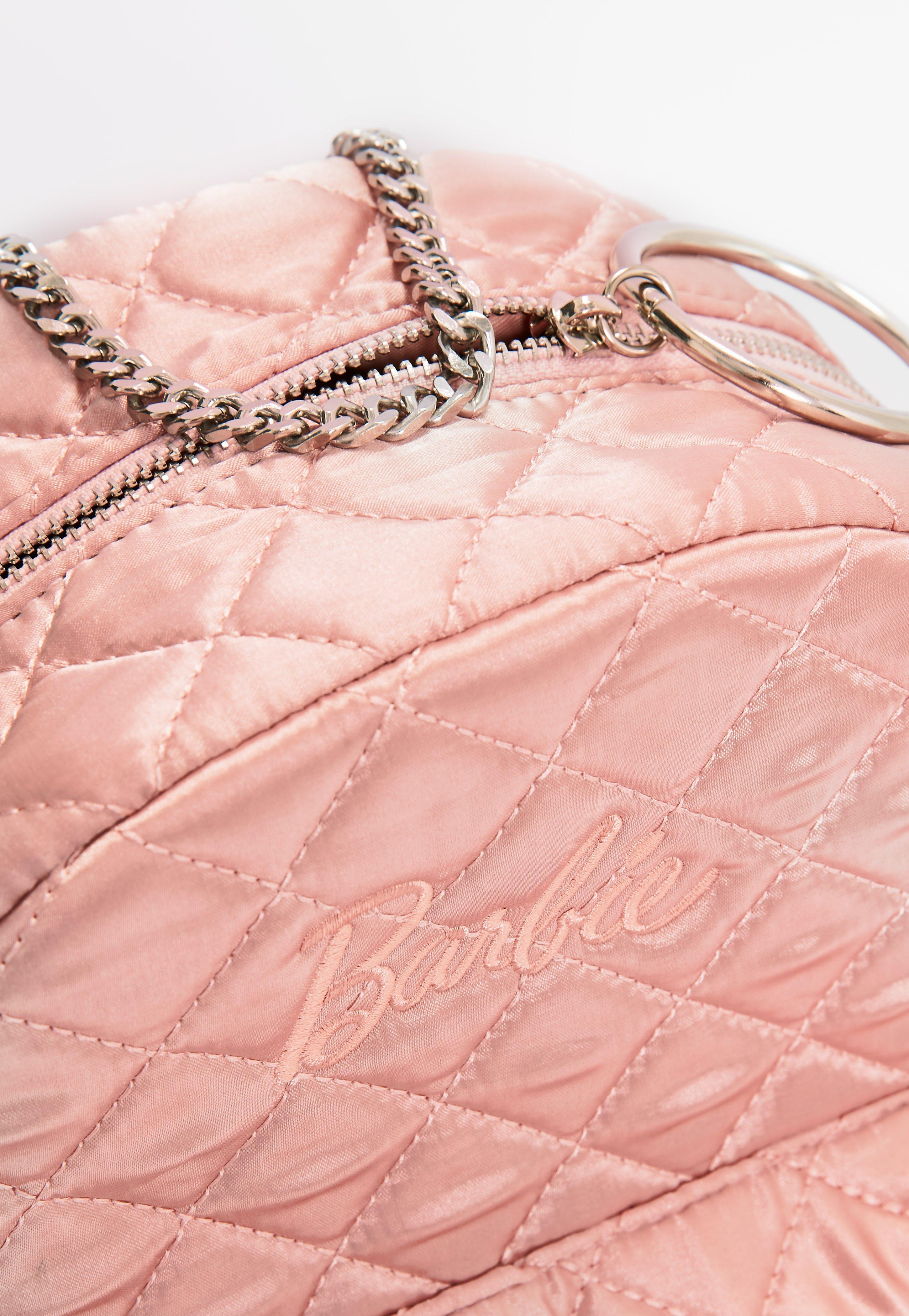 d22a876866 Lyst - Missguided Barbie X Pink Satin Embroidered Rucksack in Pink