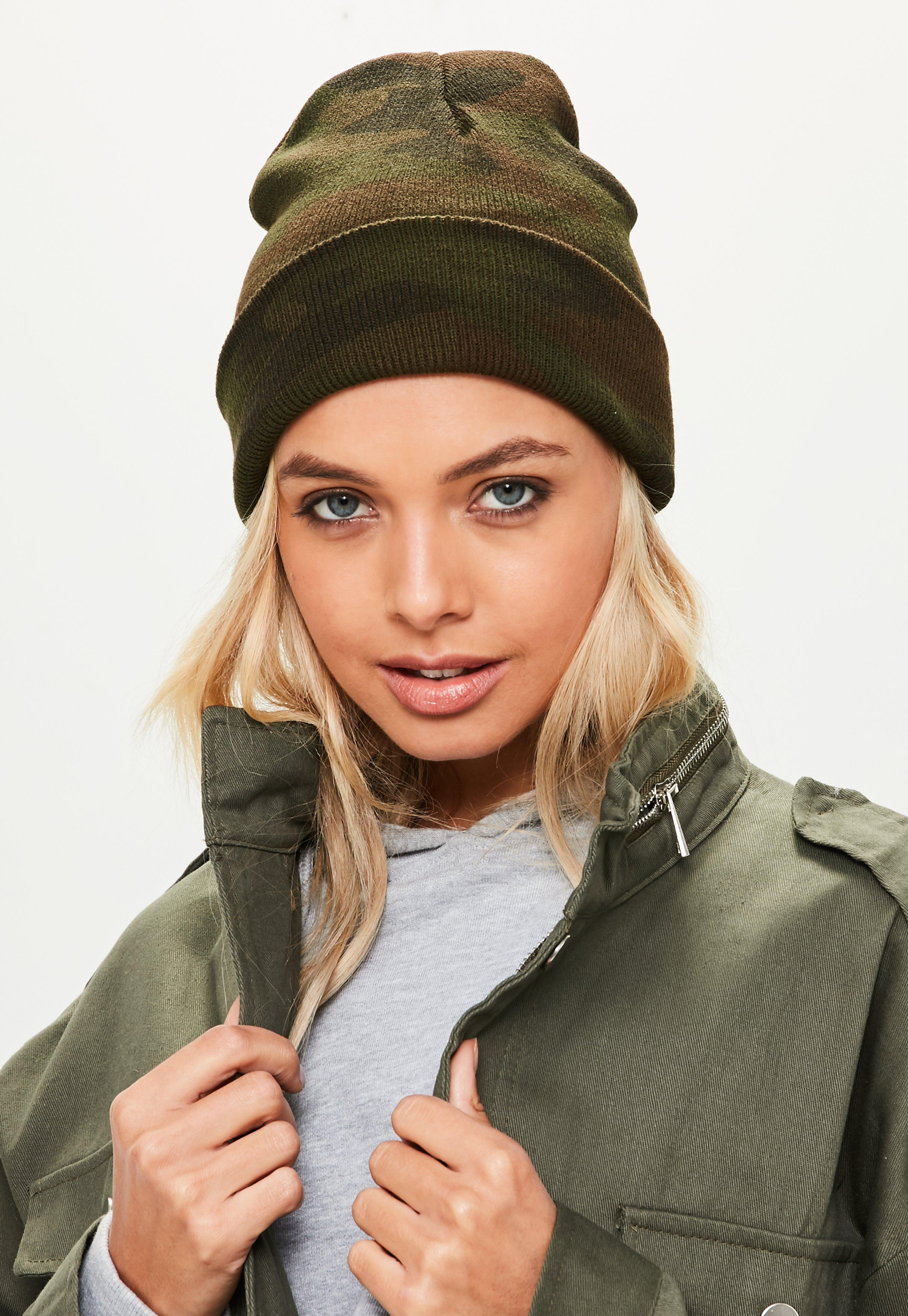 f7a76be70a9e9 Lyst - Missguided Khaki Beanie Hat in Natural