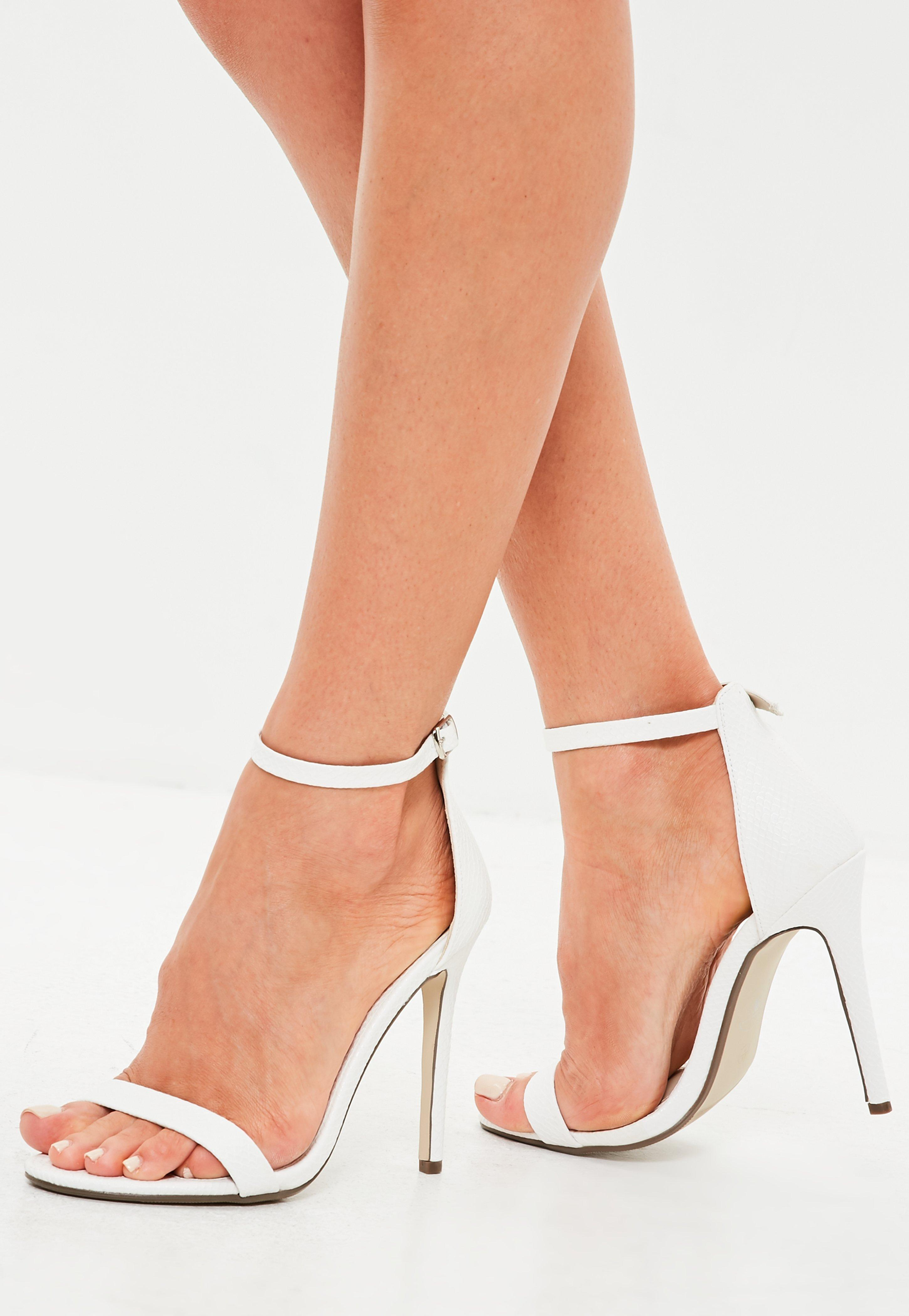65f9d0d8ac1 Missguided White Flat Two Strap Barely There Sandals in White - Lyst