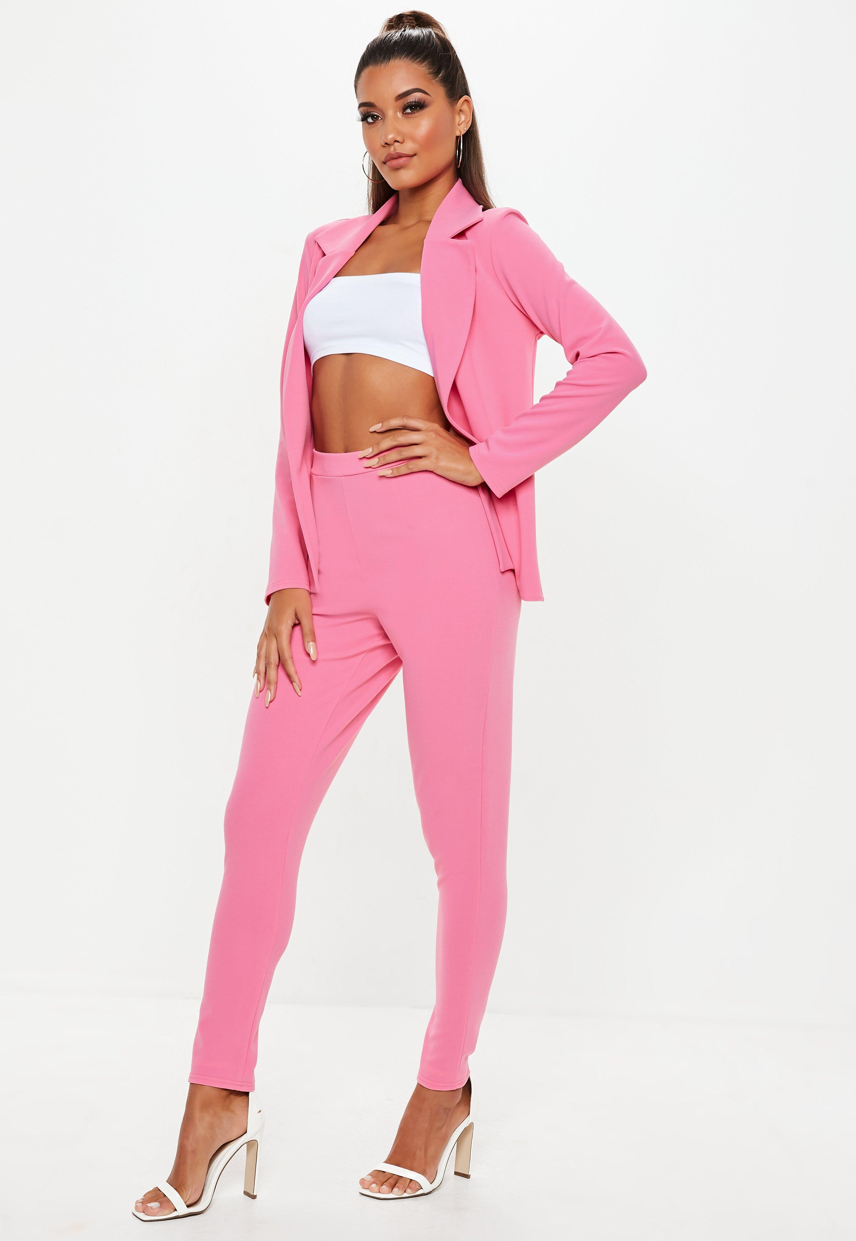 31bbfc215261 Lyst - Missguided Pink Stretch Crepe Cigarette Pants in Pink