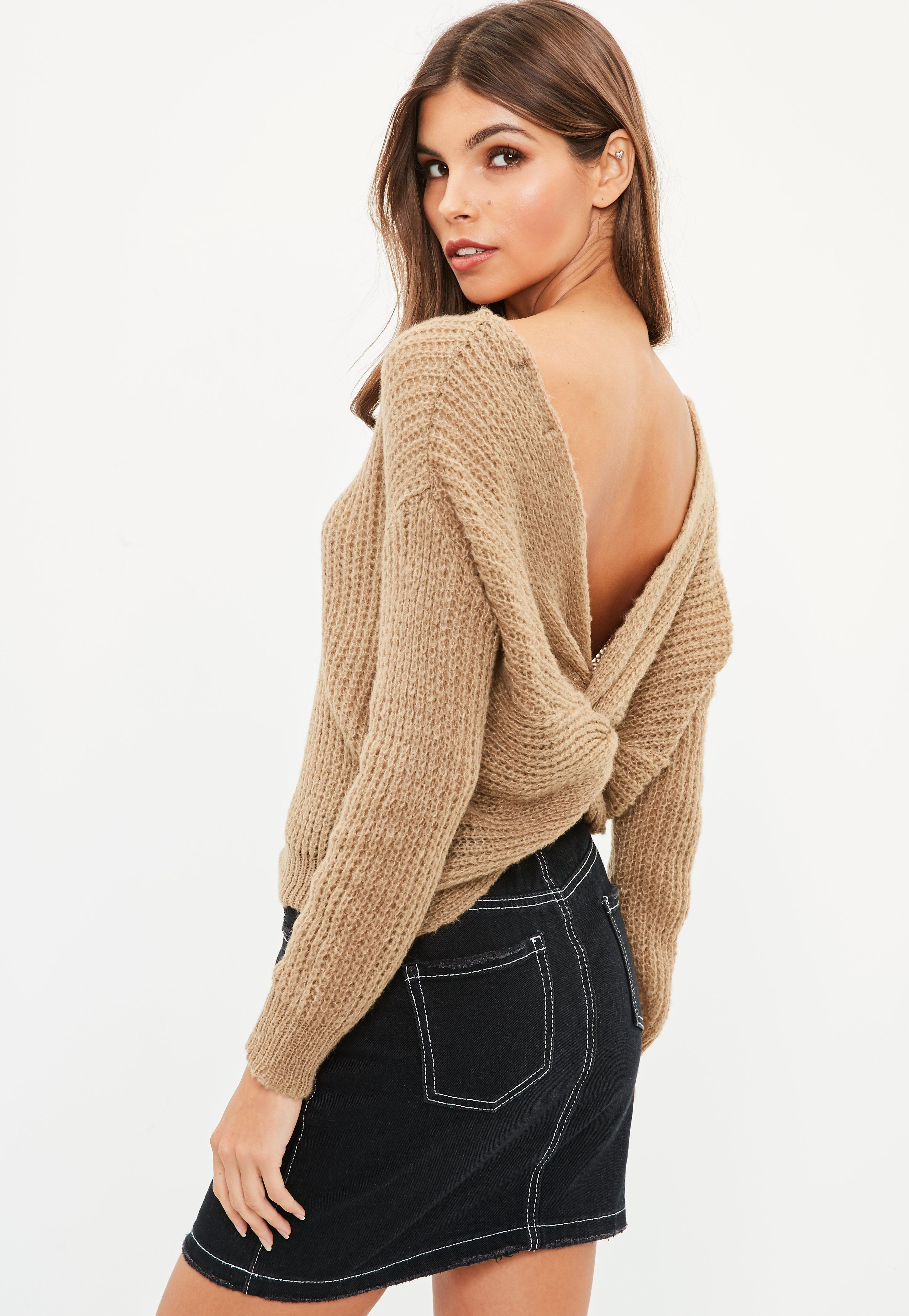 High Quality Cheap Price Clearance Cheap Online Missguided Petite Fluffy Twist Back Knitted Jumper Pay With Visa Cheap Price Sale Factory Outlet High Quality DWwyBAYL