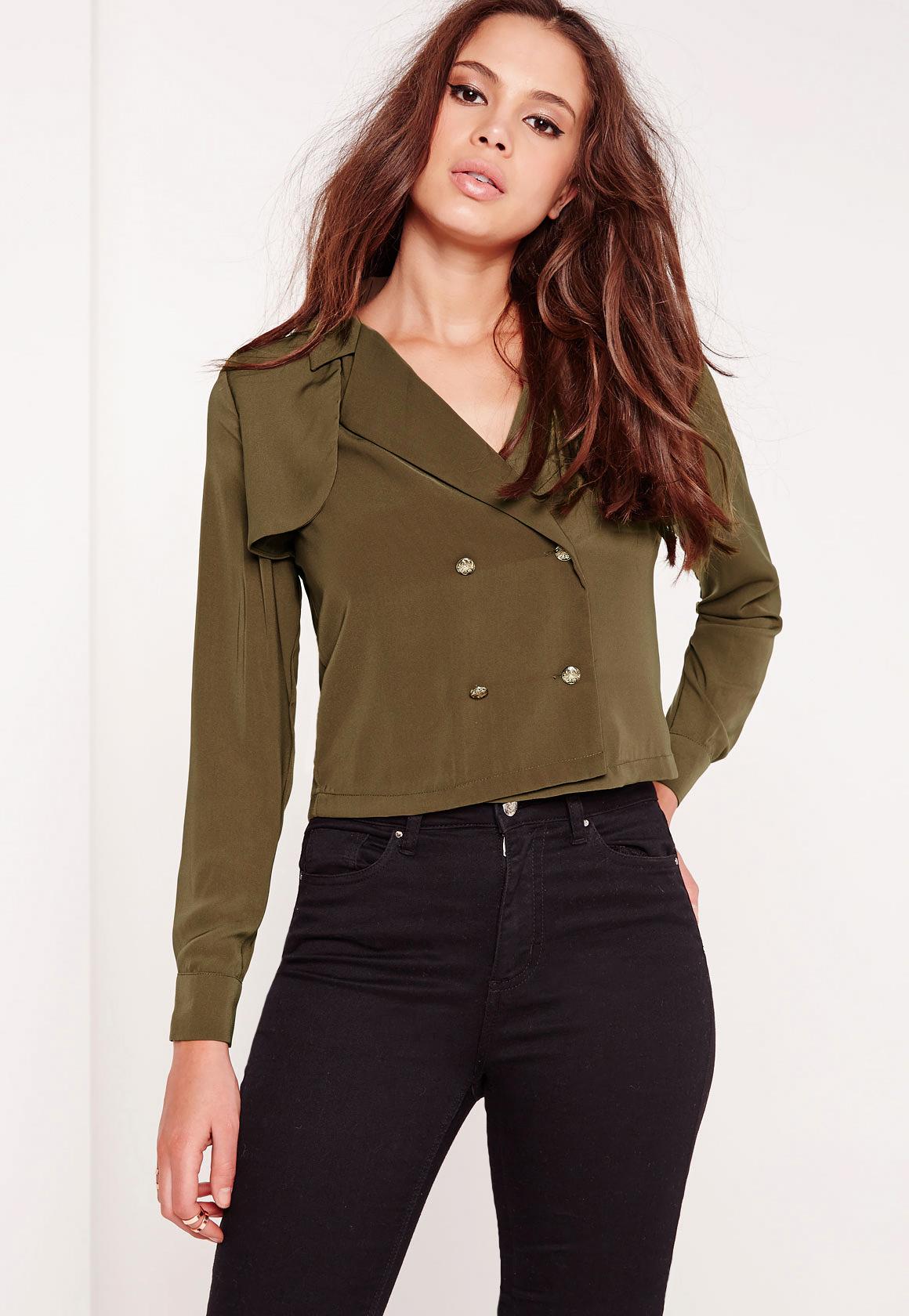 Green Khaki Blouse 105