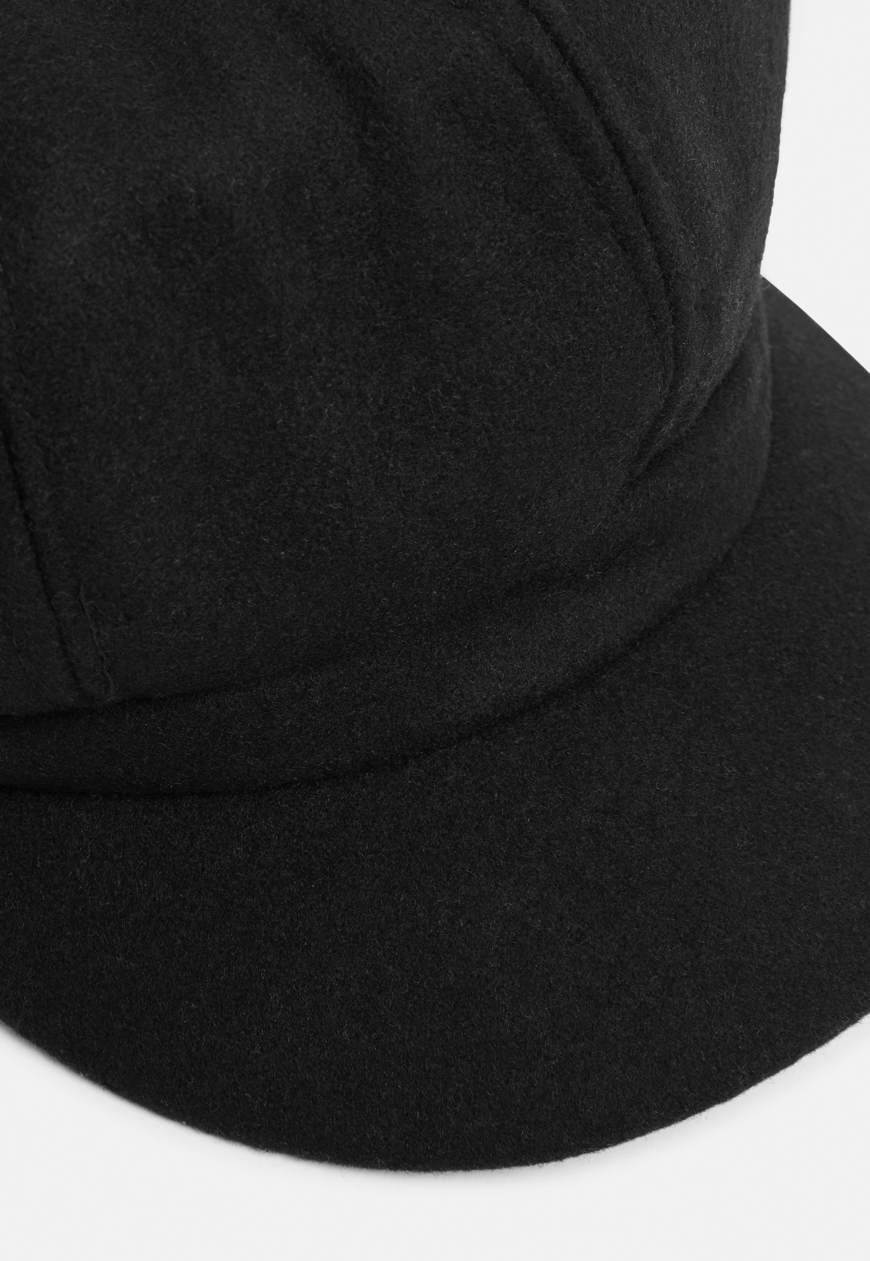 6d497ca97b6 Lyst - Missguided Black Brushed Baker Boy Hat in Black for Men