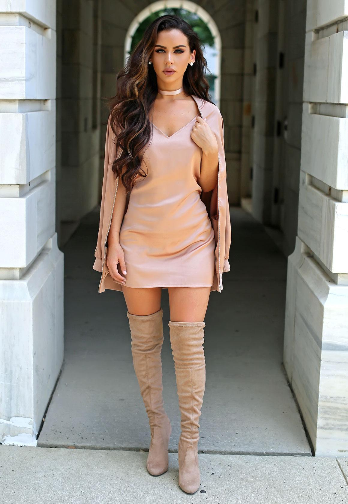 Carli Bybel Youtube Makeup: Missguided Carli Bybel Silky Cami Dress Pink In Pink