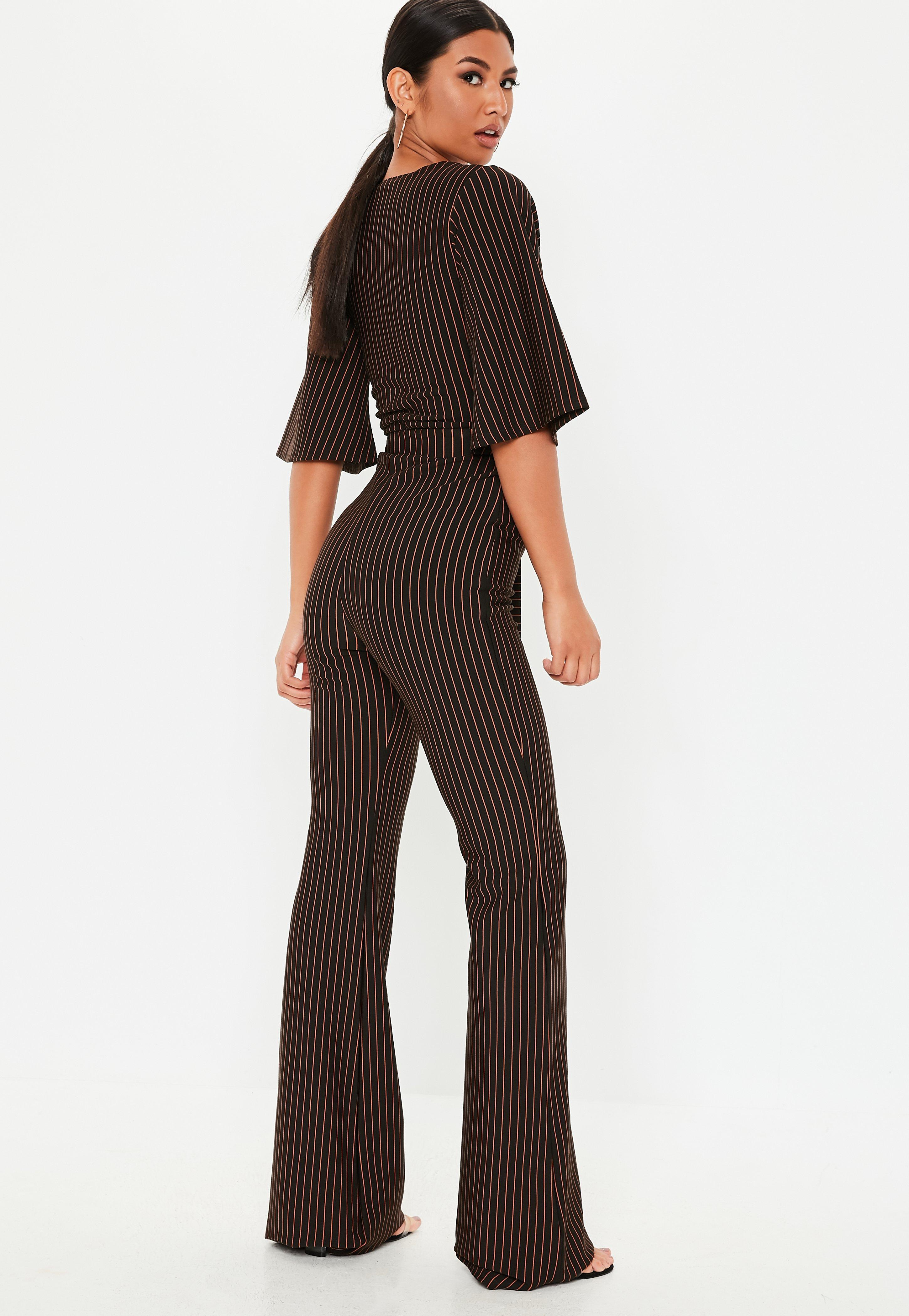 8072baed4f5 Missguided - Tall Black Stripe Kimono Sleeve Jumpsuit - Lyst. View  fullscreen