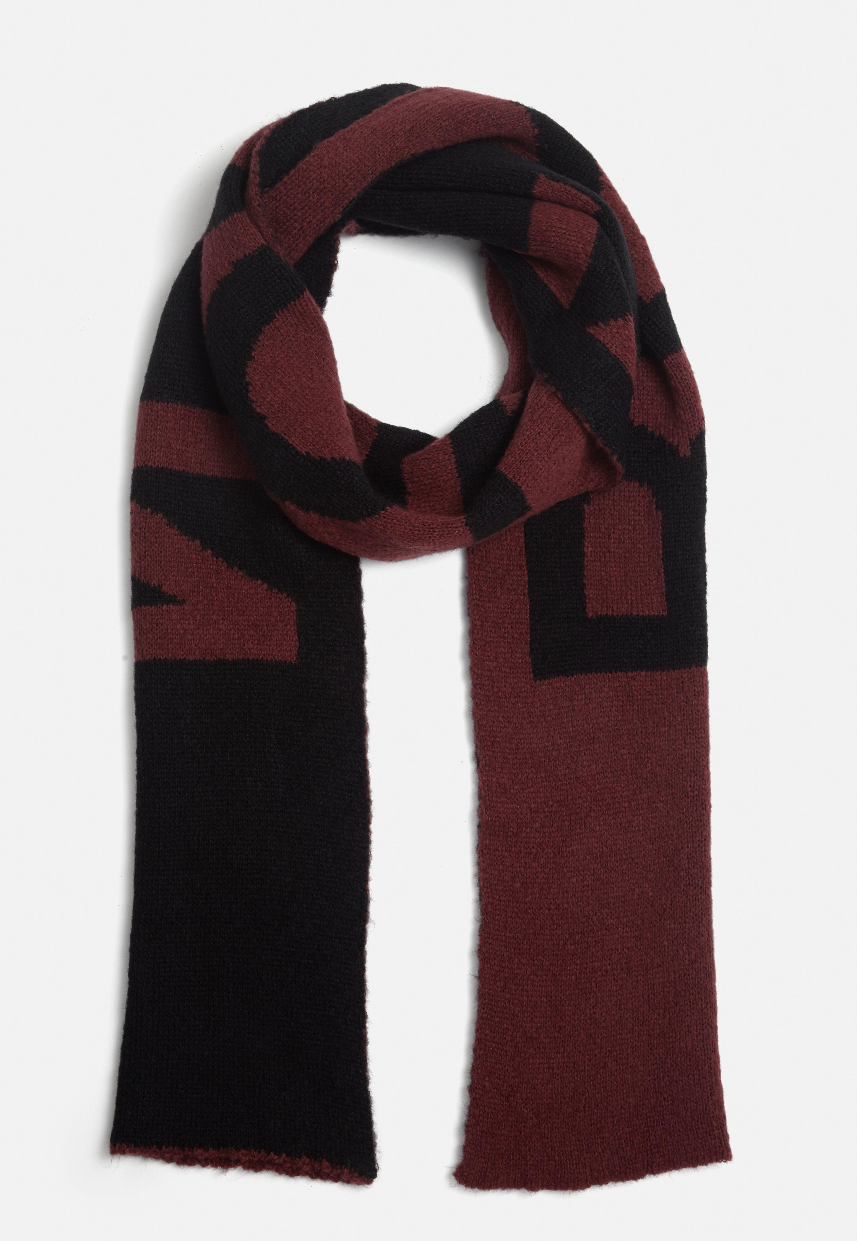fringed slogan scarf - Red HMRl9m