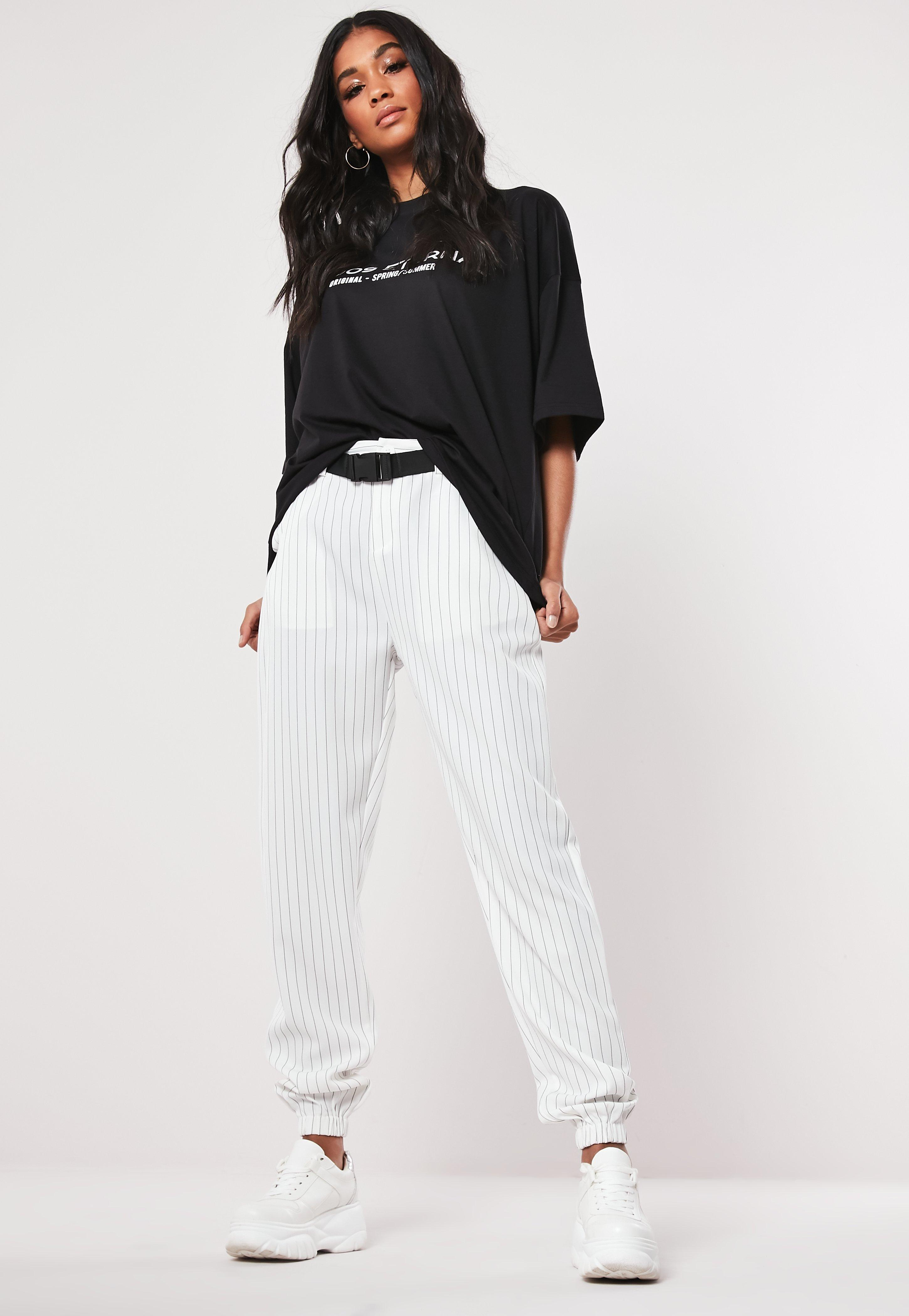 7e985f25 Missguided - Petite Black Eternal Drop Shoulder T Shirt - Lyst. View  fullscreen