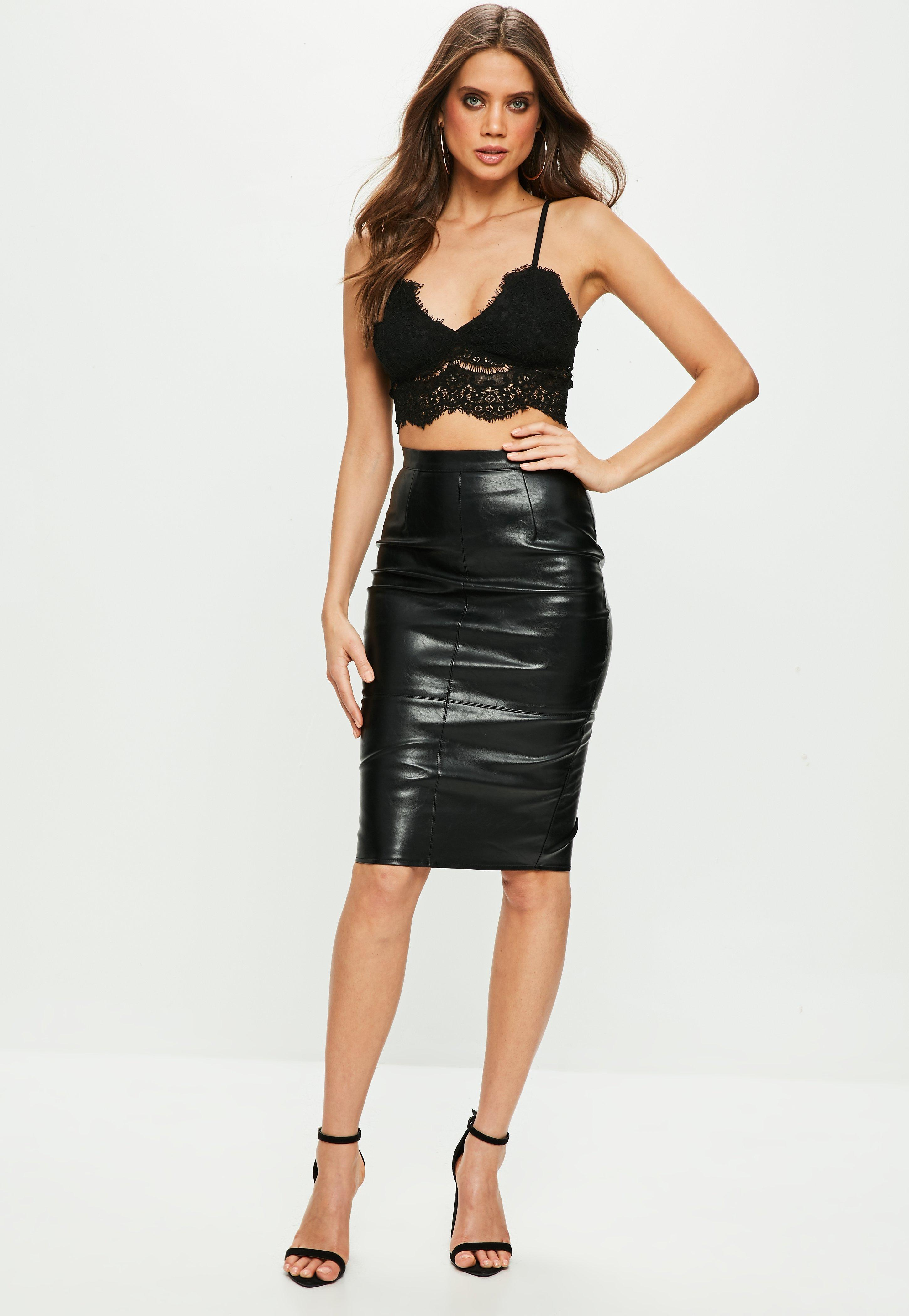 aa66ce377e Missguided - Premium Black Corded Lace Bralet - Lyst. View fullscreen