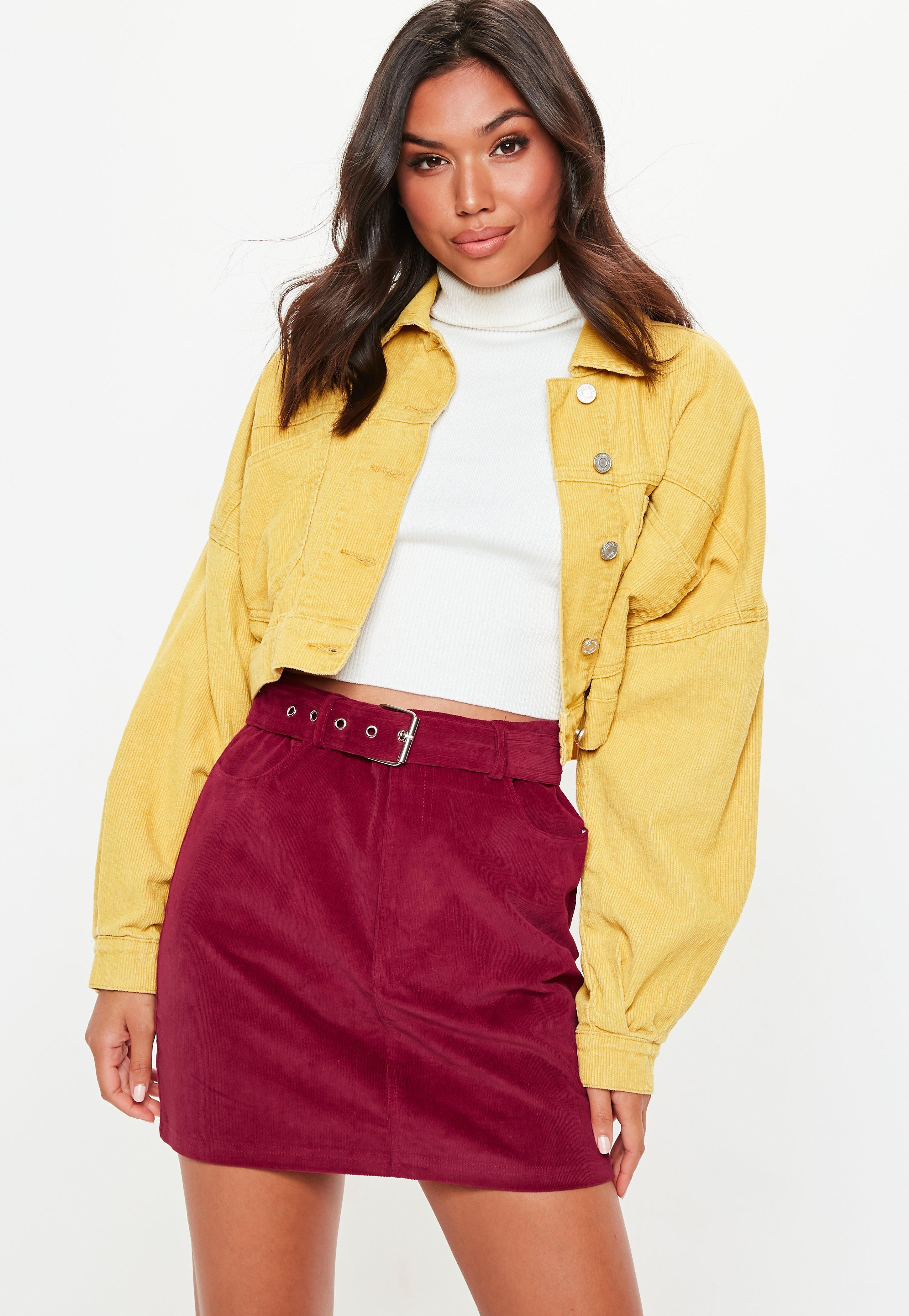 aa7ac42e6e5c Missguided - Multicolor Burgundy Corduroy Buckle Detail Mini Skirt - Lyst.  View fullscreen