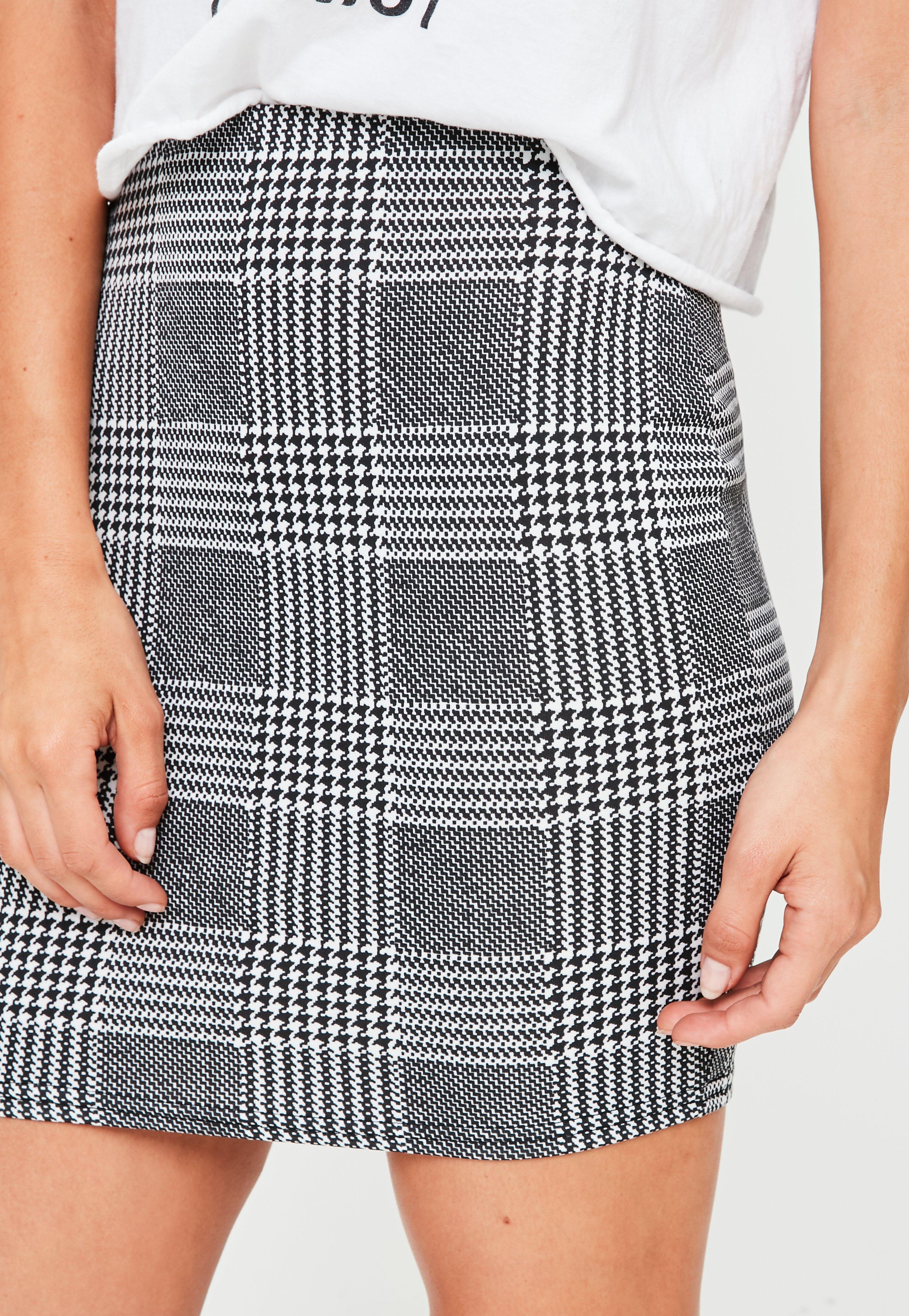 d69f495457 Missguided Grey Check Braces Mini Skirt