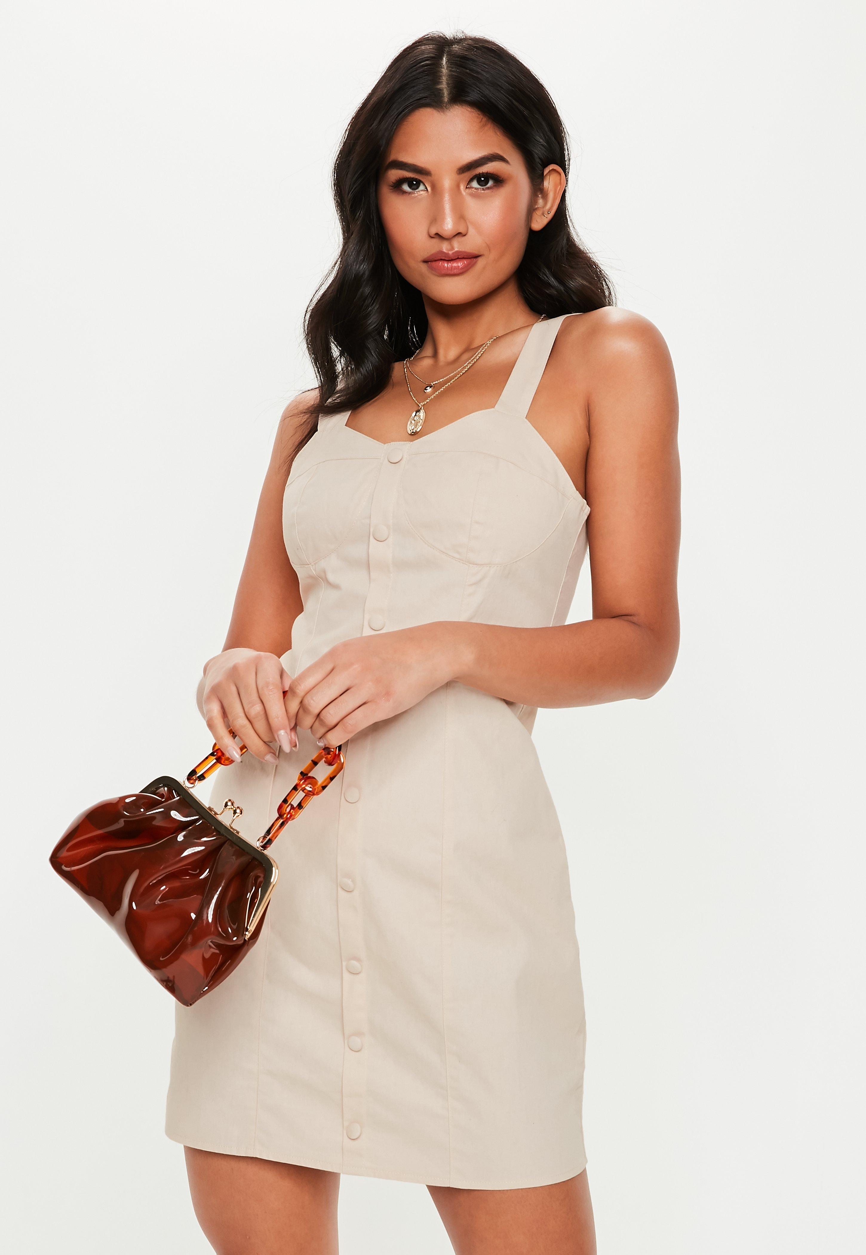 ad785337055 Missguided. Women s Stone Bust Cup Twill Mini Dress