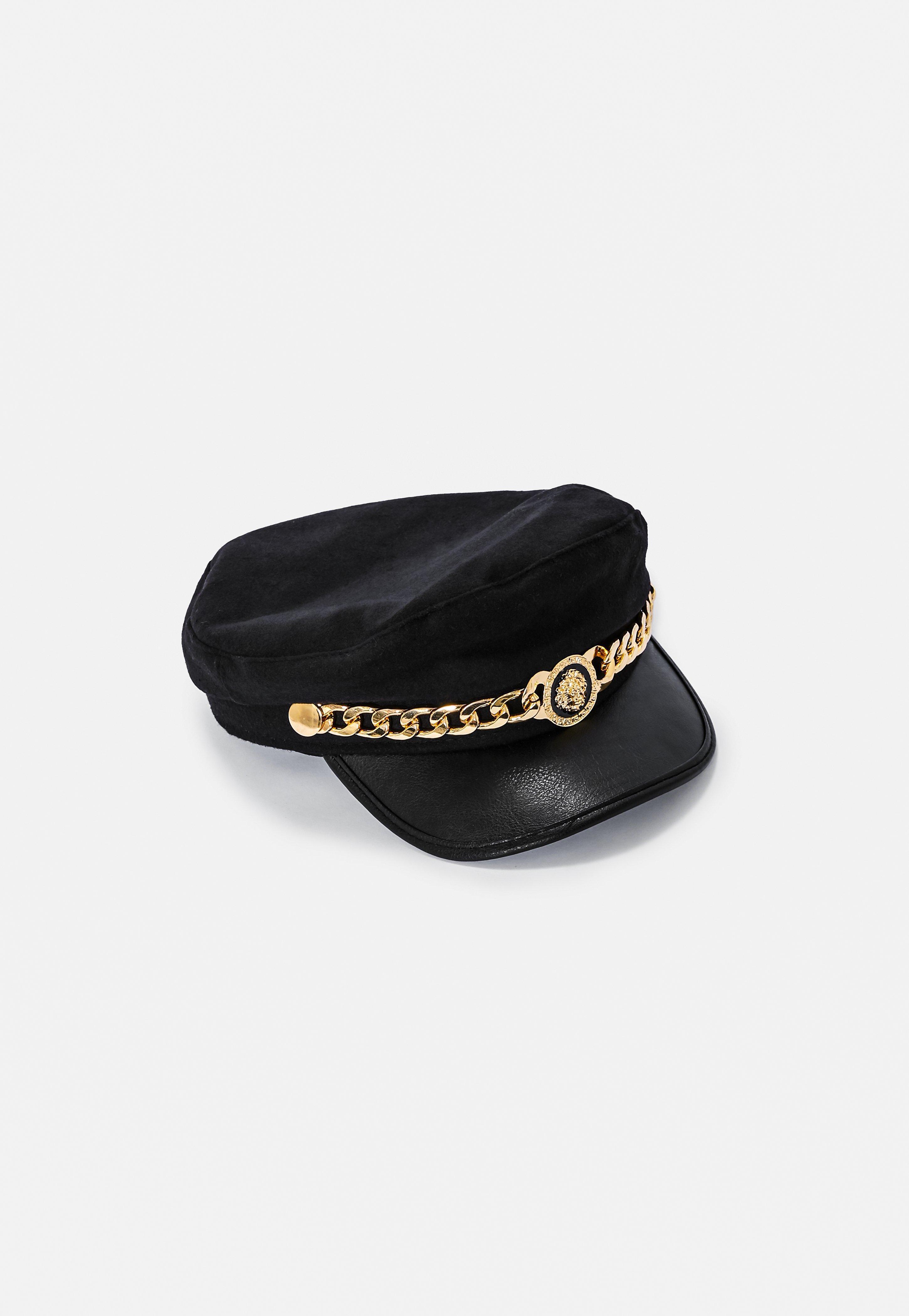 6f70ef1aef2 Lyst - Missguided Black Lion Head Baker Boy Hat in Black
