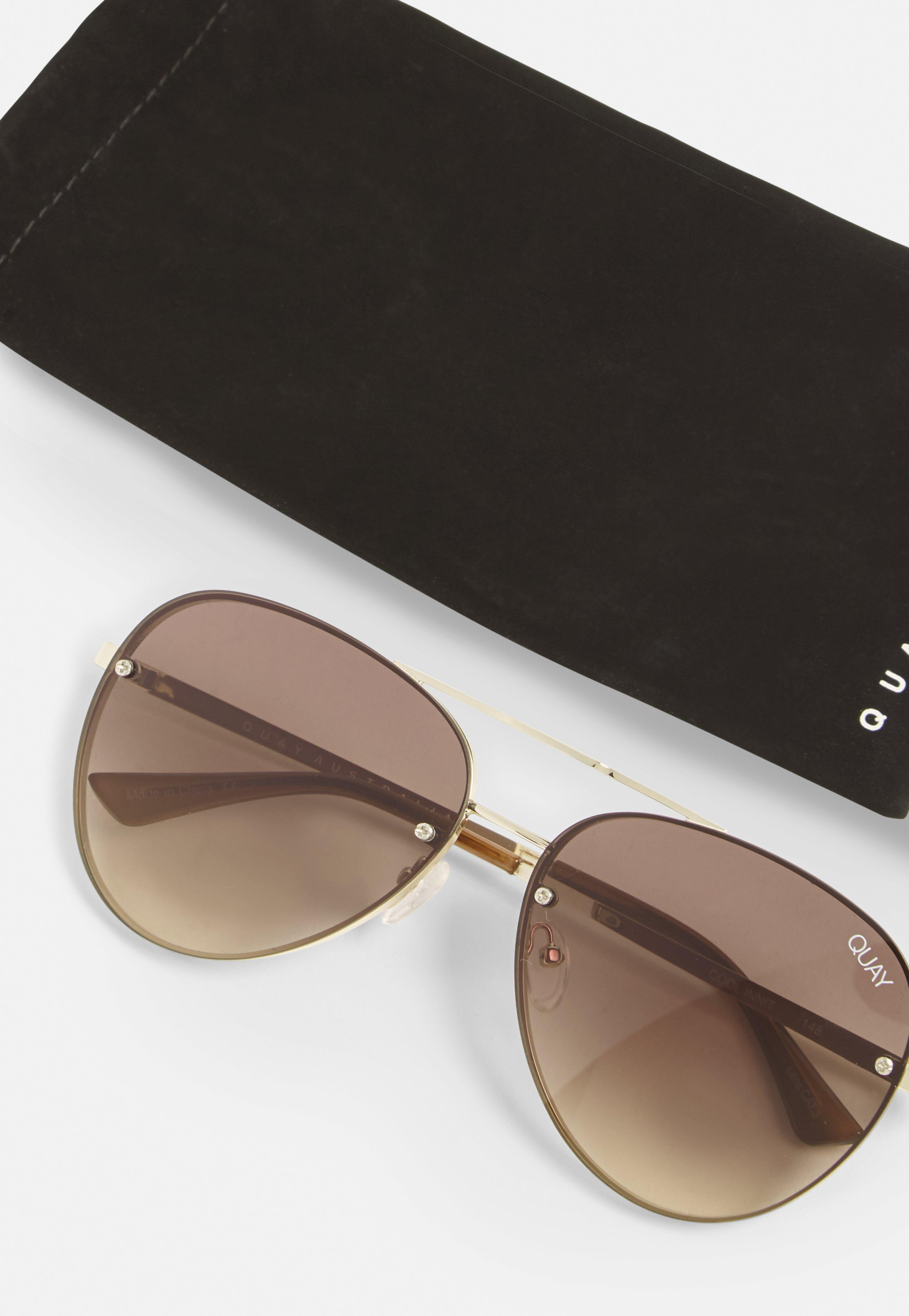04bf3efd44 Missguided Quay Australia X Gold smoke Fade Cool Innit Sunglasses in ...