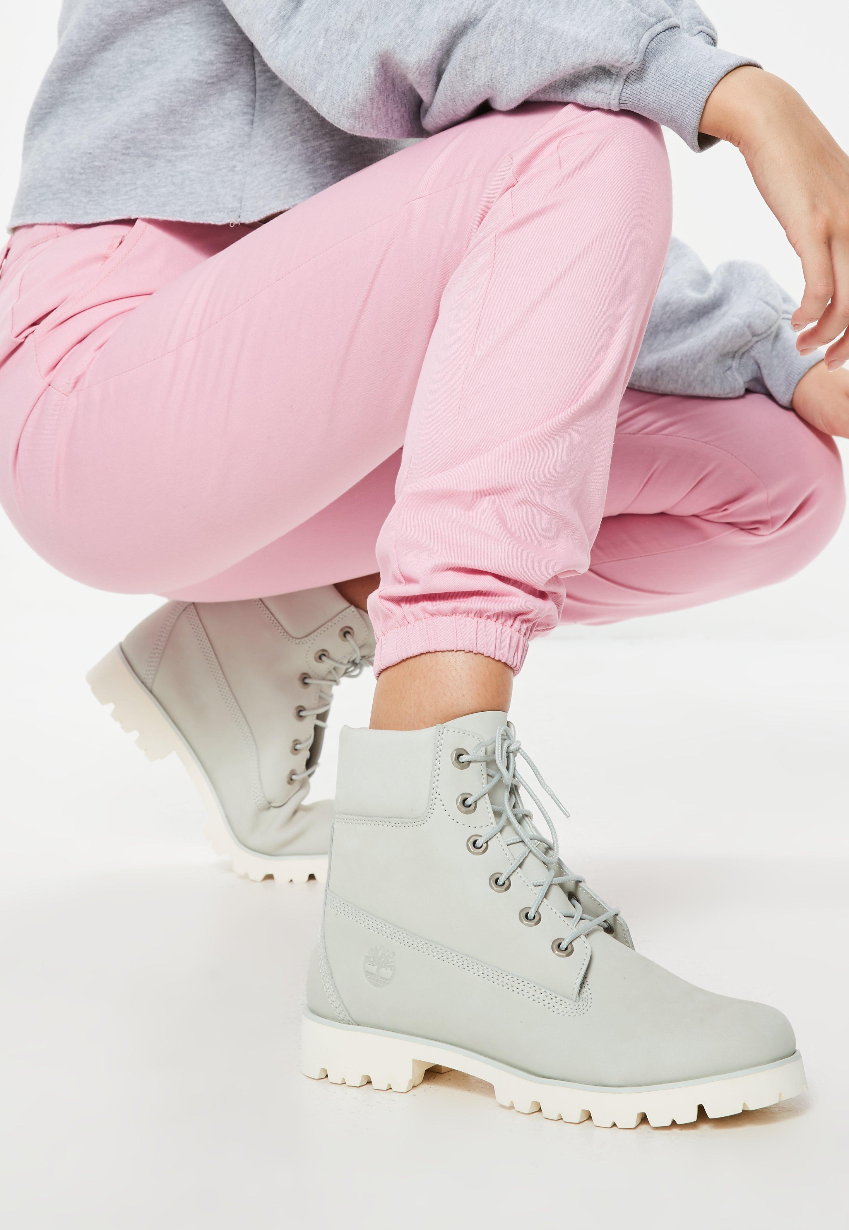 Lyst - Missguided Timberland Blue Flower Nubuck Heritage Lite 6 Inch ... 510474051a