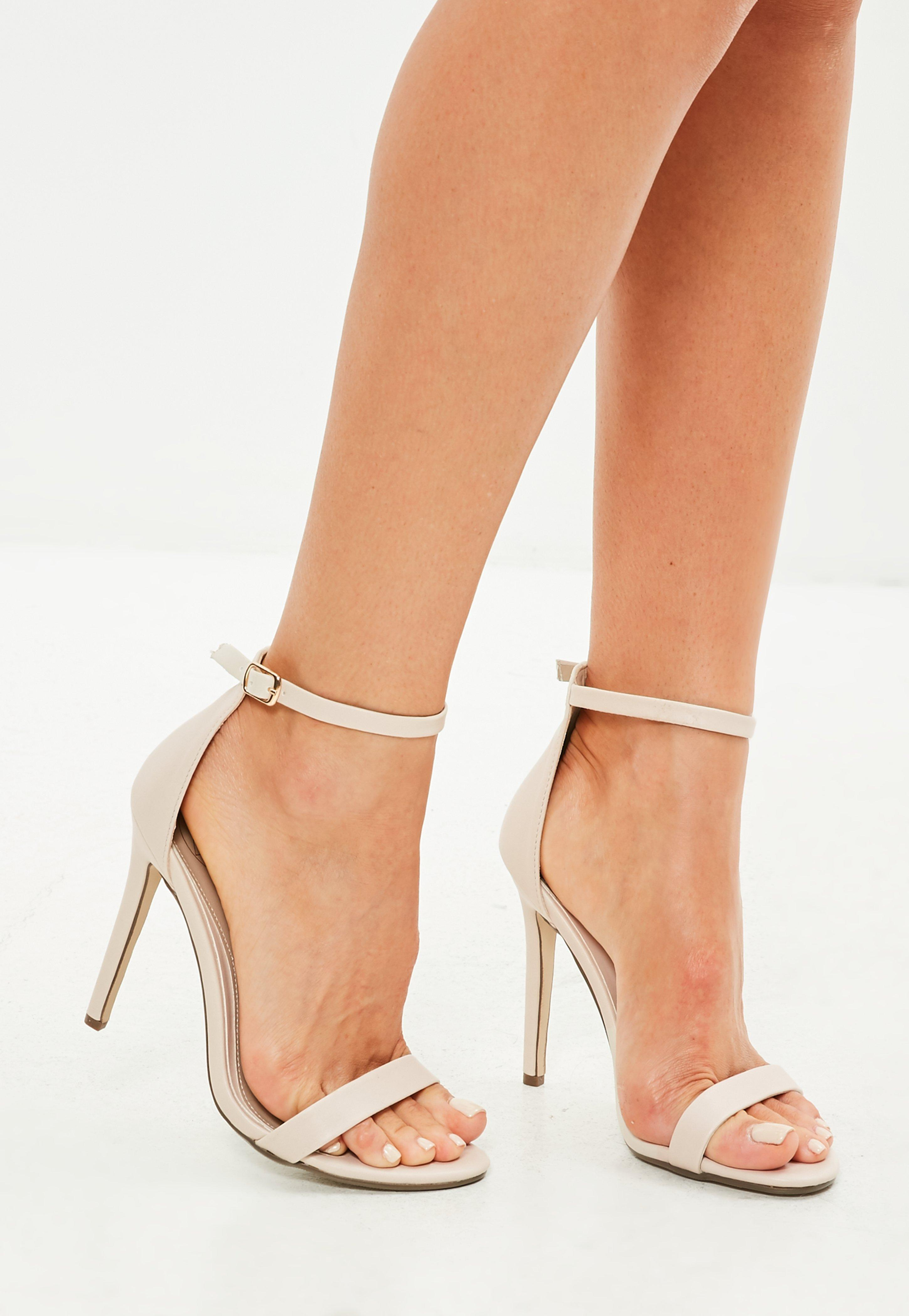 9bdf5696df5 Missguided Nude Two Strap Barely There Sandals in Natural - Lyst