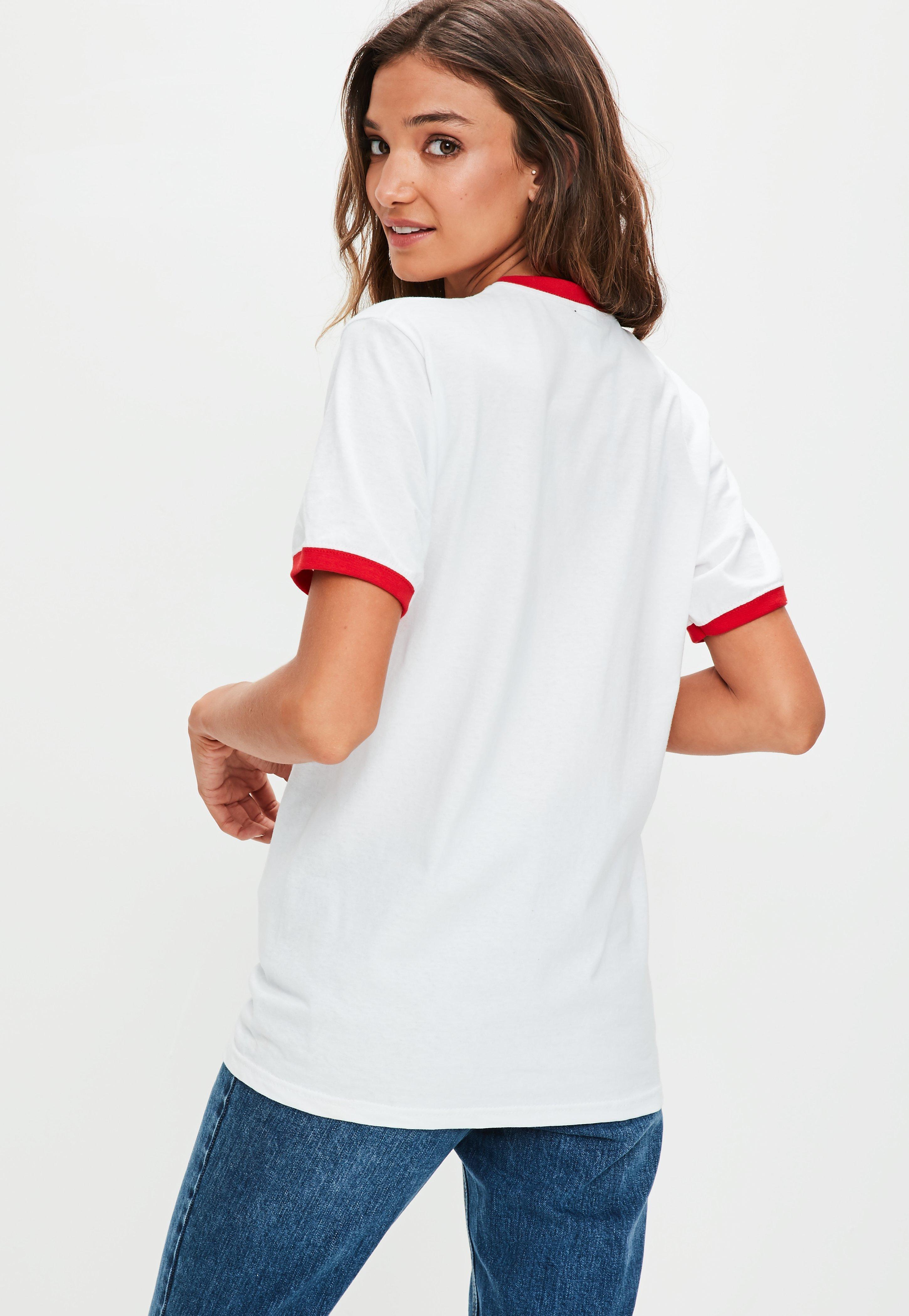 1a144b84e Missguided White Feelin' Peachy T-shirt in White - Lyst