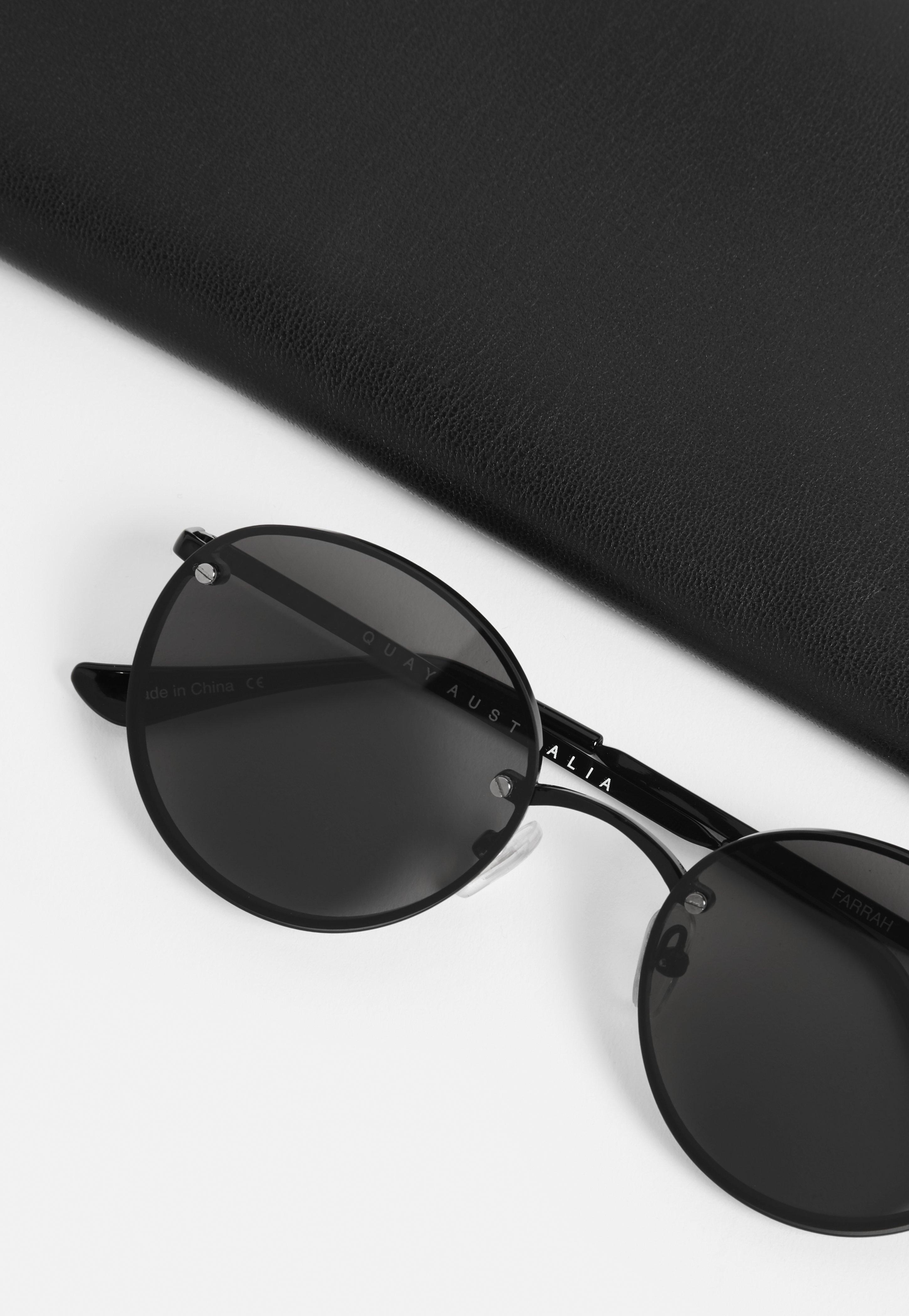 380a040ddf9b2 Missguided Quay Australia X Elle Ferguson Farrah Black Sunglasses in ...