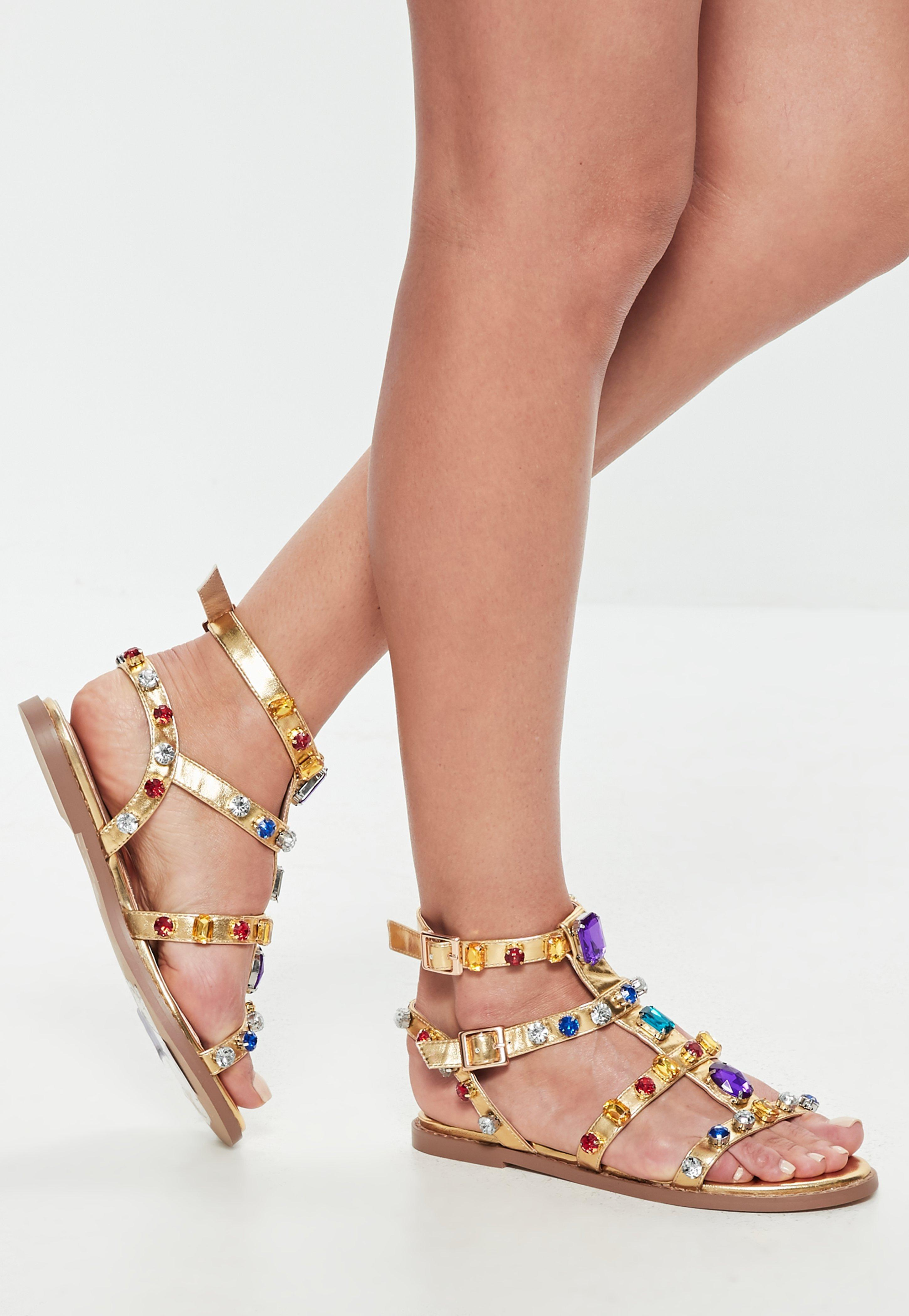 850b4f90fbc Gallery. Previously sold at  Missguided · Women s Gladiator Sandals Women s  Gold ...