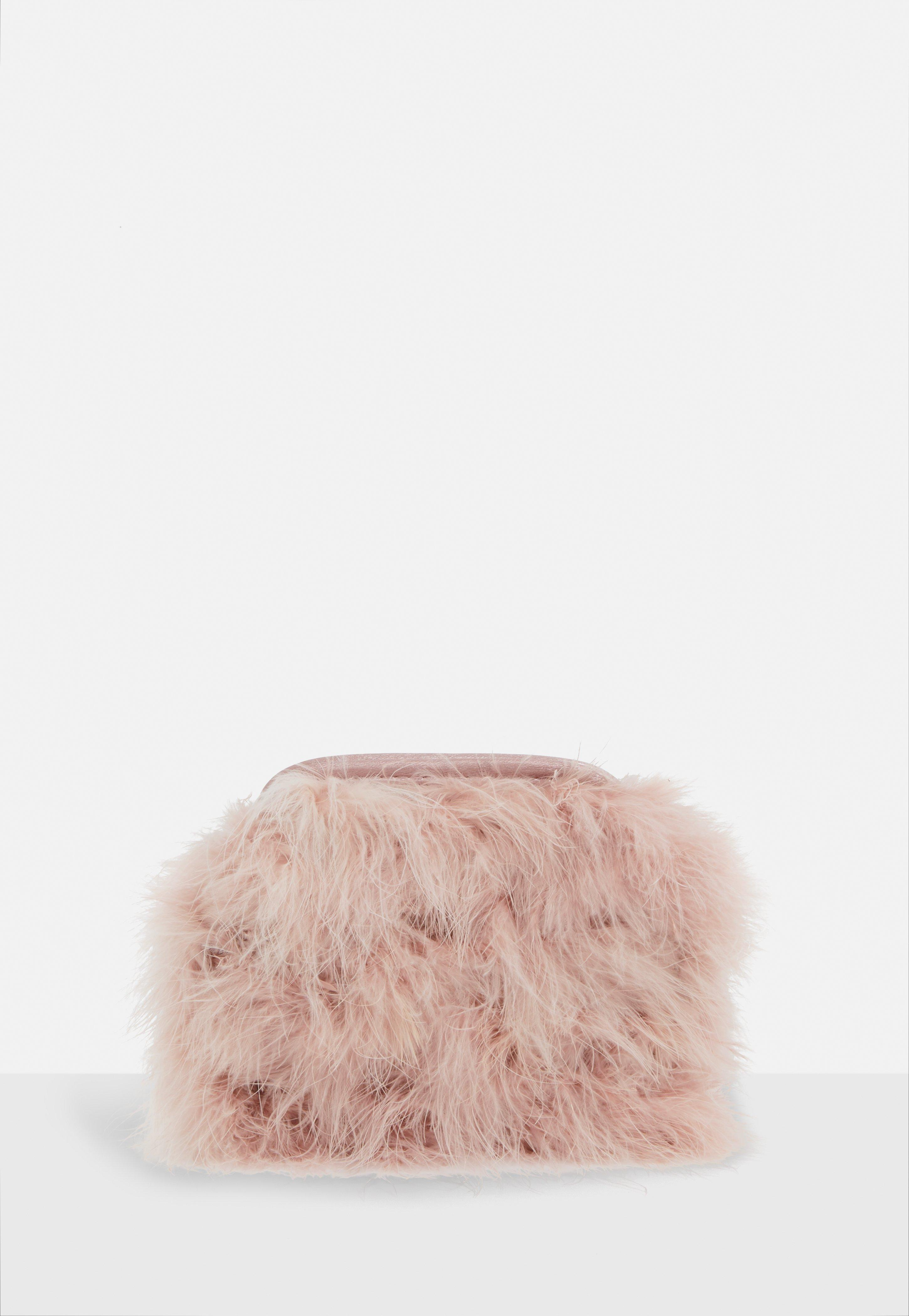 Missguided - Pink Blush Round Feather Clutch Bag - Lyst. View fullscreen 9ee886a5de074