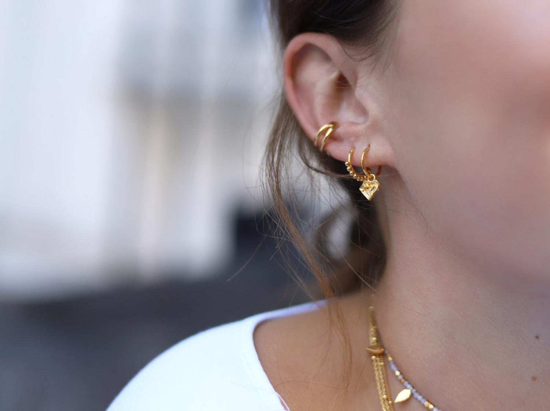 88dc9c715 Mini Hoop Earrings With Charm - Image Of Earring