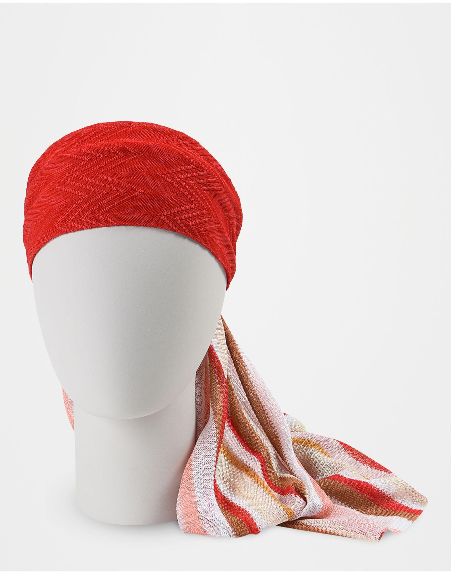 missoni beachwear head band in red lyst. Black Bedroom Furniture Sets. Home Design Ideas