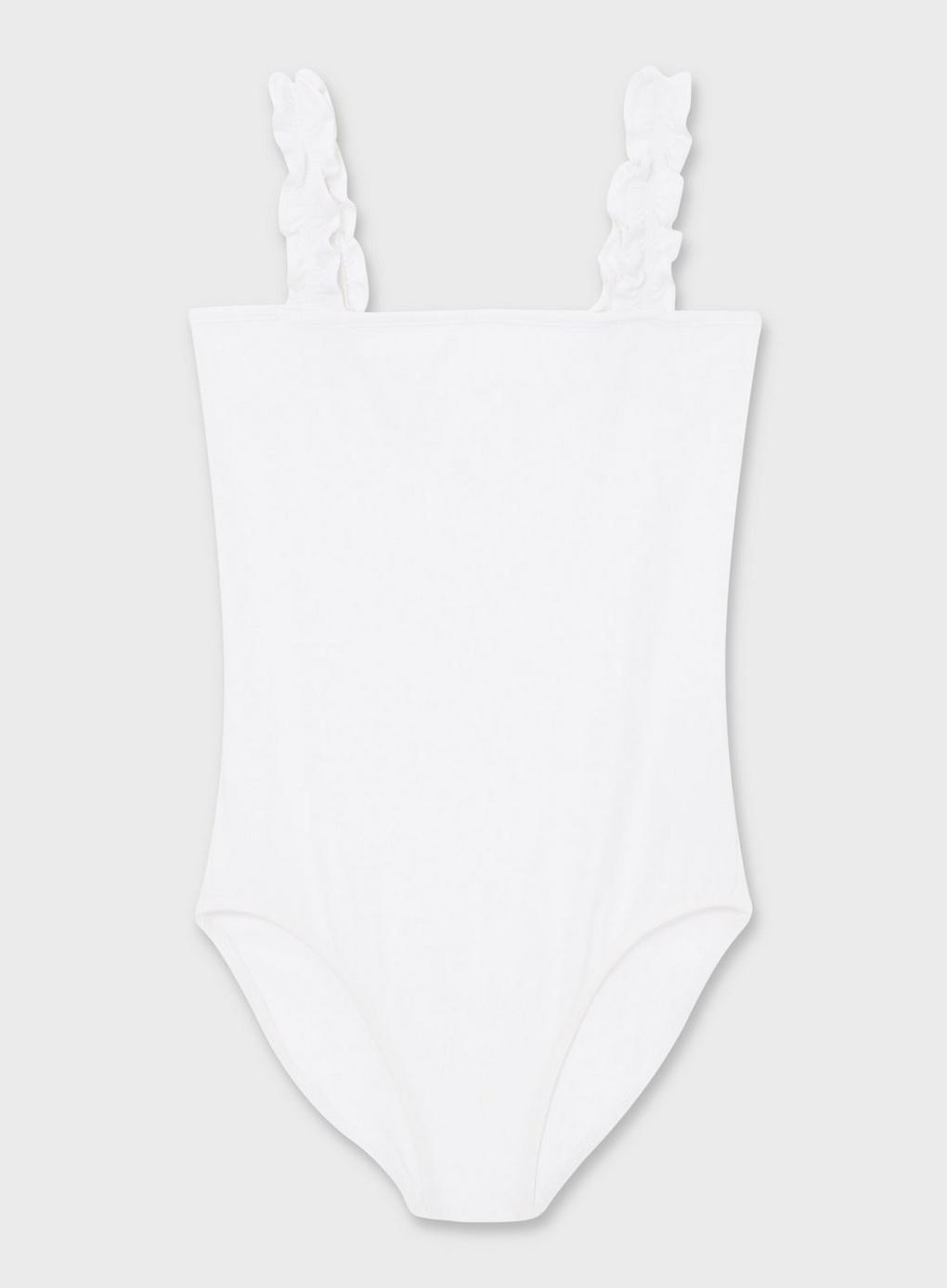 bb98d717973a04 Miss Selfridge - White Sleeveless Ruffle Strap Body - Lyst. View fullscreen