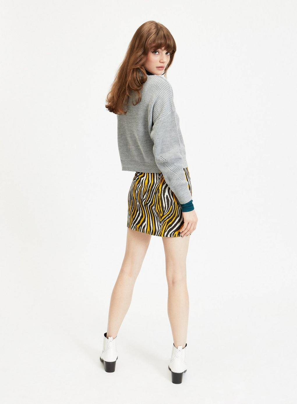 d772bd9e2e Miss Selfridge - Multicolor Multi Coloured Zebra Print Mini Skirt - Lyst.  View fullscreen